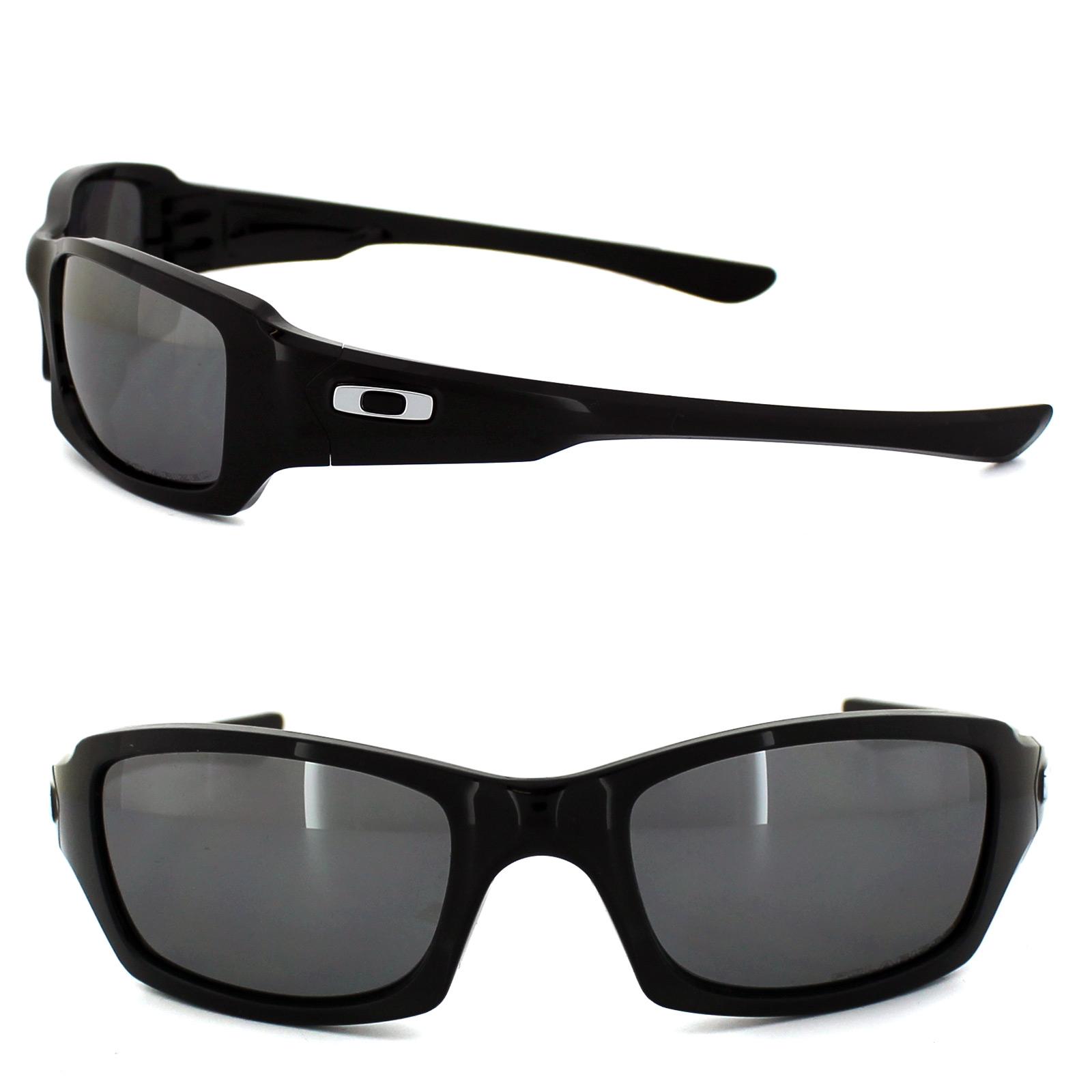 2ca3f4893c Sentinel Oakley Sunglasses Fives Squared OO9238-06 Polished Black Black  Iridium Polarized
