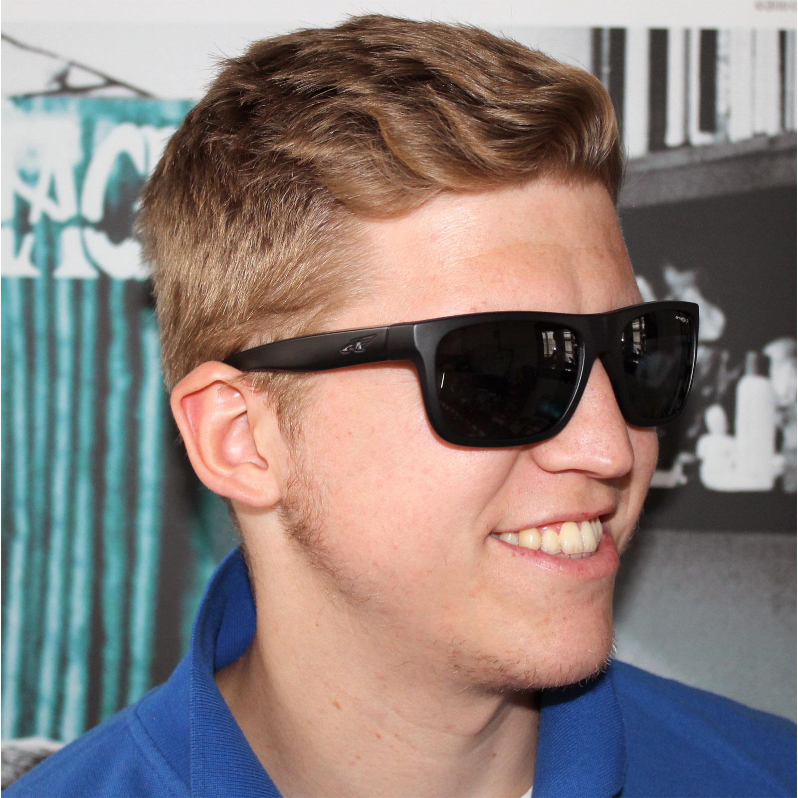 4f45f5bee22 Sentinel Arnette Sunglasses 4176 Dropout 222881 Matt Black Grey Polarized