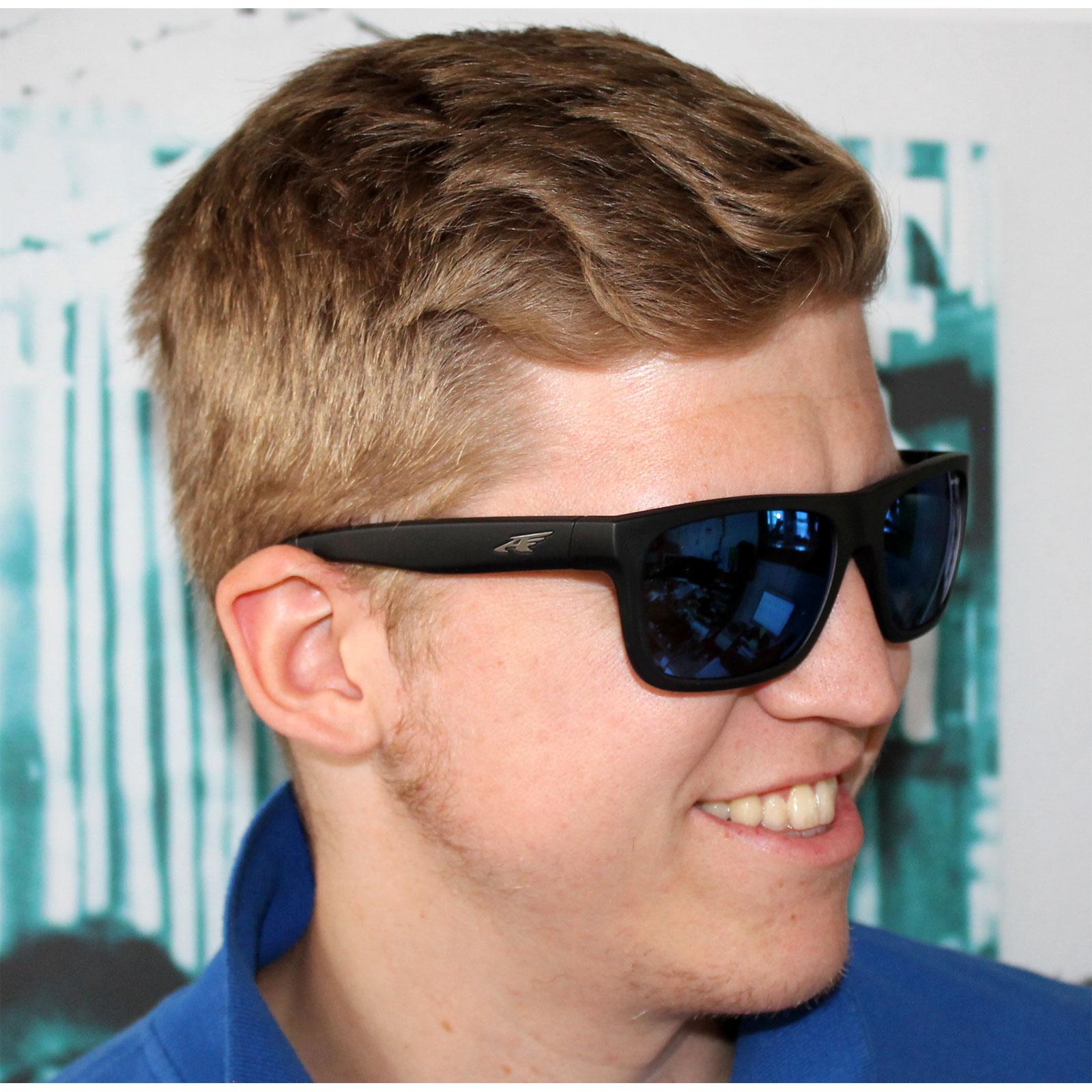 8ed503c599f Sentinel Arnette Sunglasses 4176 Dropout 225455 Fuzzy Black Fade to  Blueberry Blue Mirror