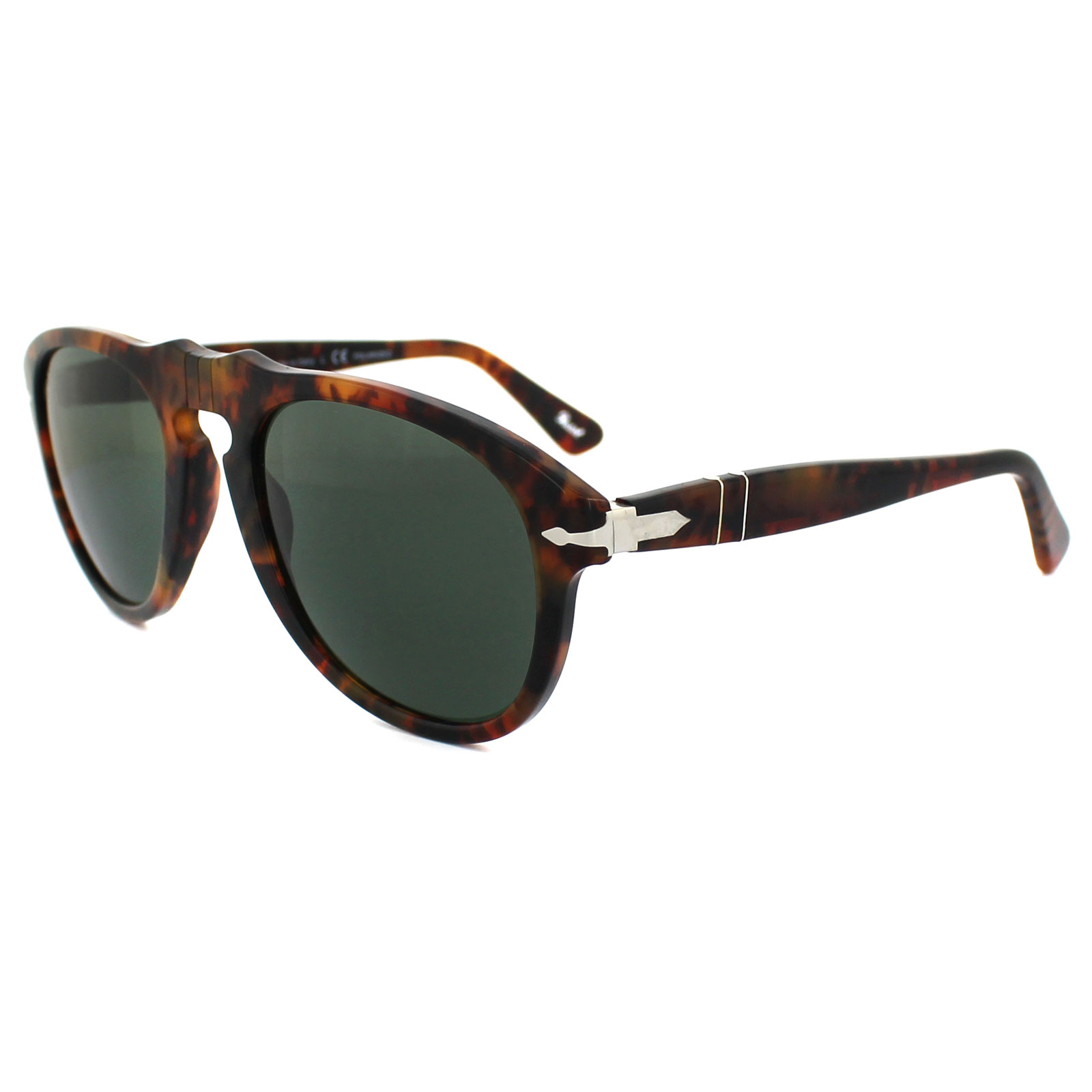 c82bd3326a5 Sentinel Persol Sunglasses 0649 108 58 Spotted Brown Caffe Green Polarized  52mm