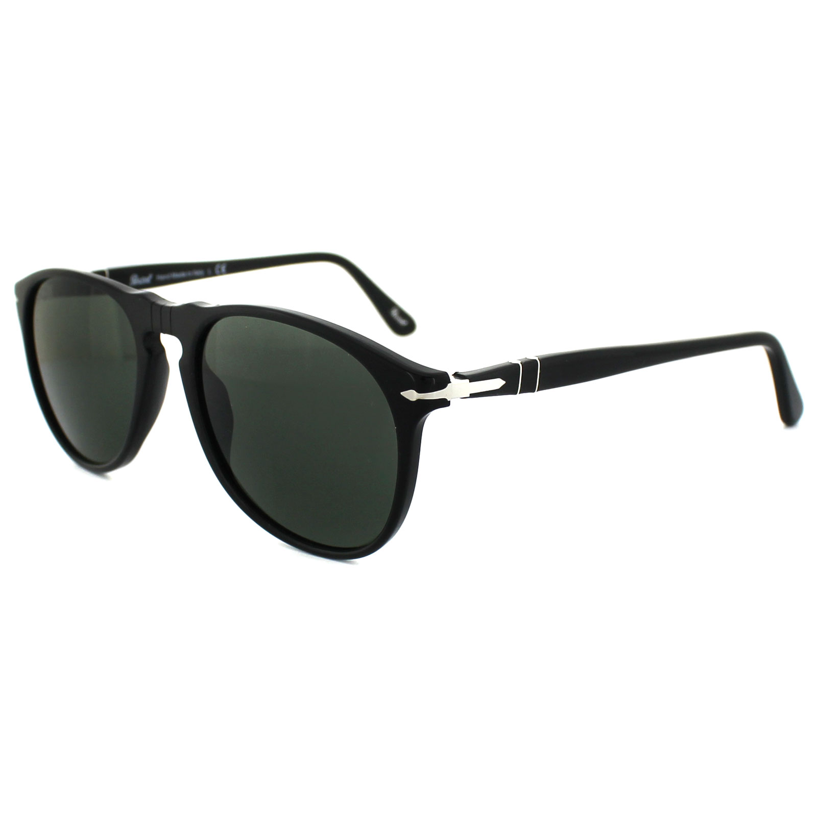 9f24954925 Persol Sunglasses 9649 95 31 Black Green 8053672129380
