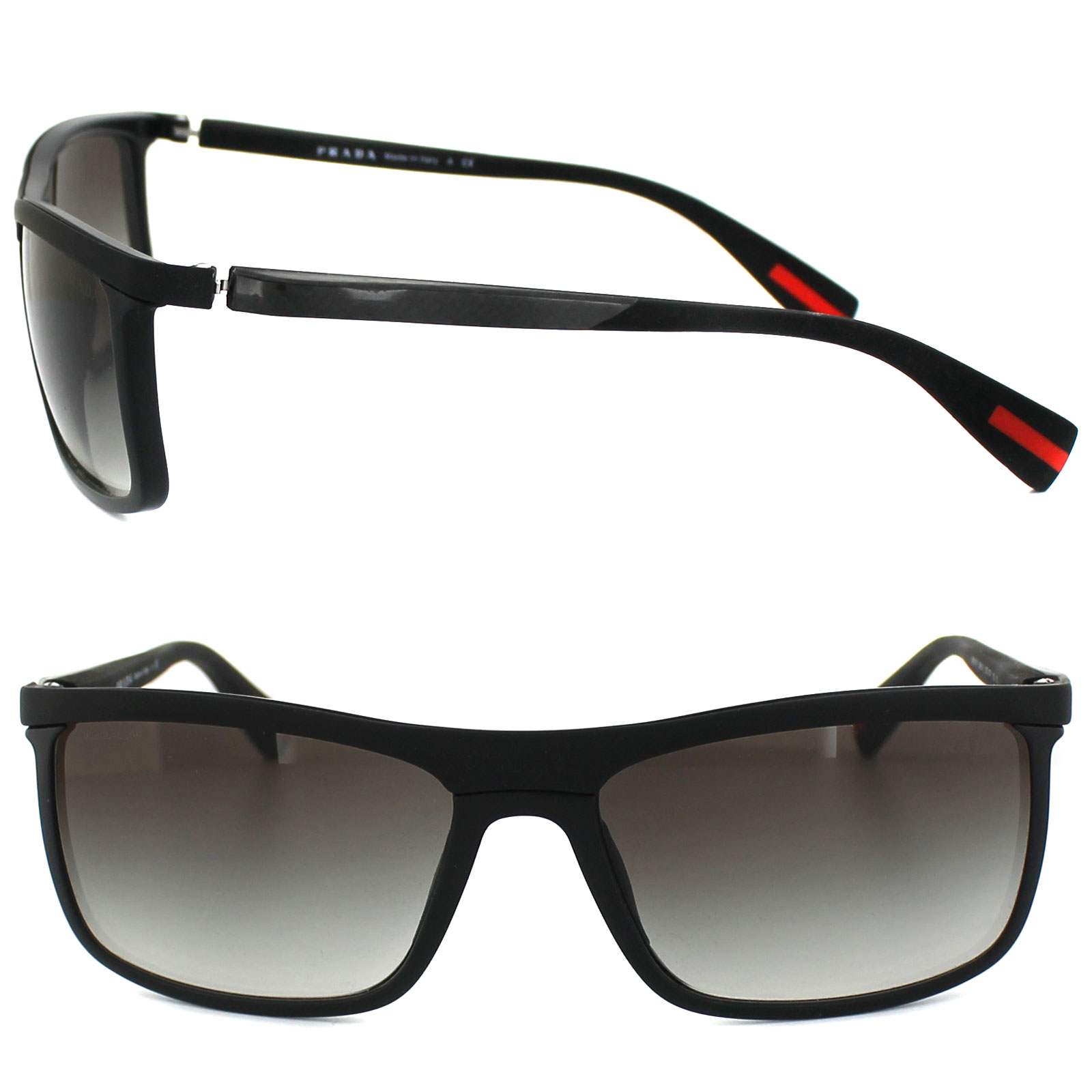 41b14234b0d86 ... best sentinel prada sport sunglasses 51ps 1bo0a7 black grey gradient  47eba 07c29
