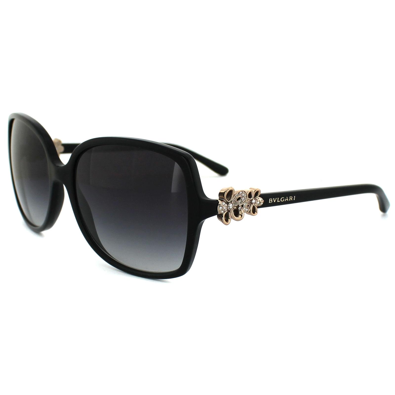 Bvlgari Sunglasses 8120B 501/8G Black Grey Gradient 8053672080650 | eBay