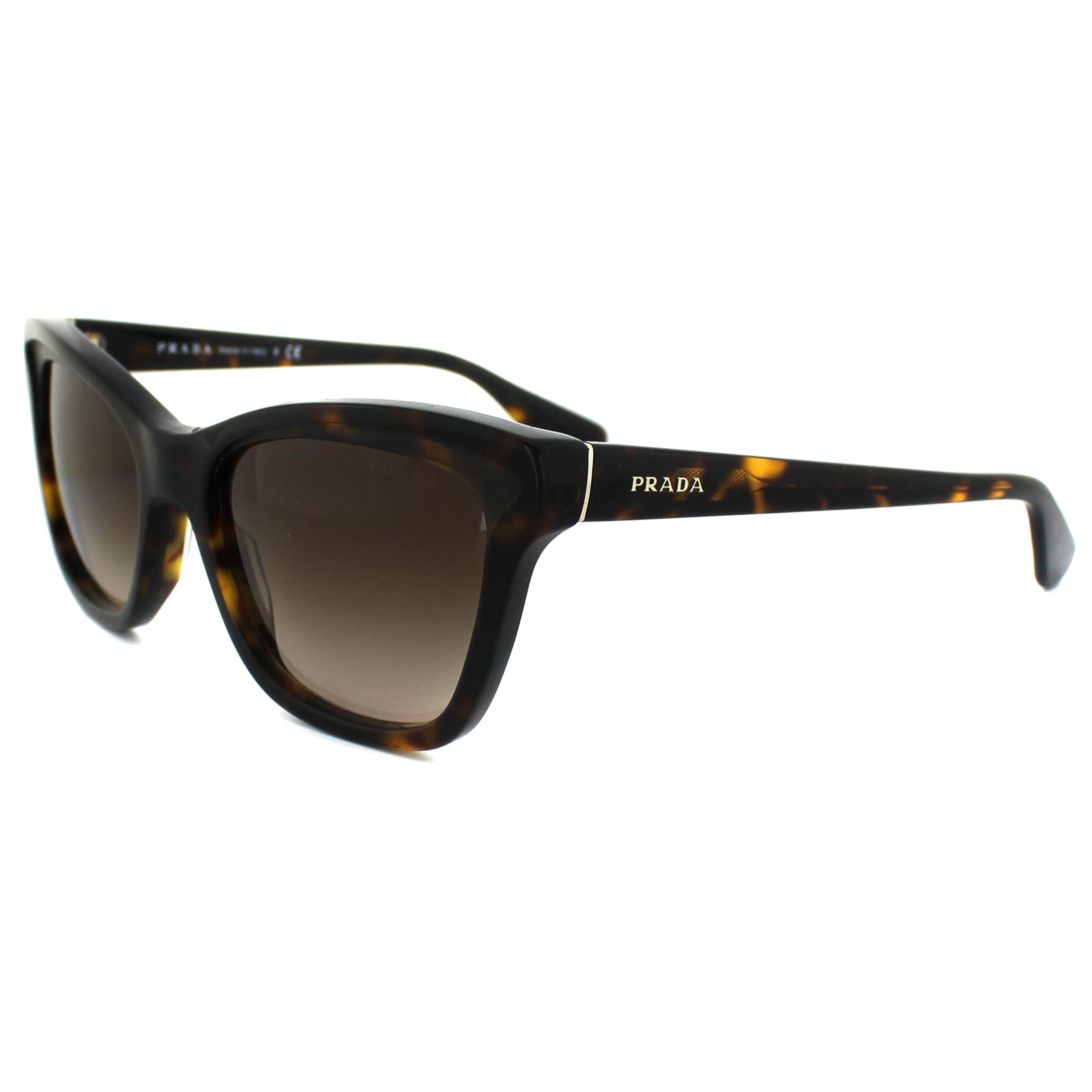 prada sunglasses 16ps 2au6s1 havana brown gradient 679420883779 ebay. Black Bedroom Furniture Sets. Home Design Ideas