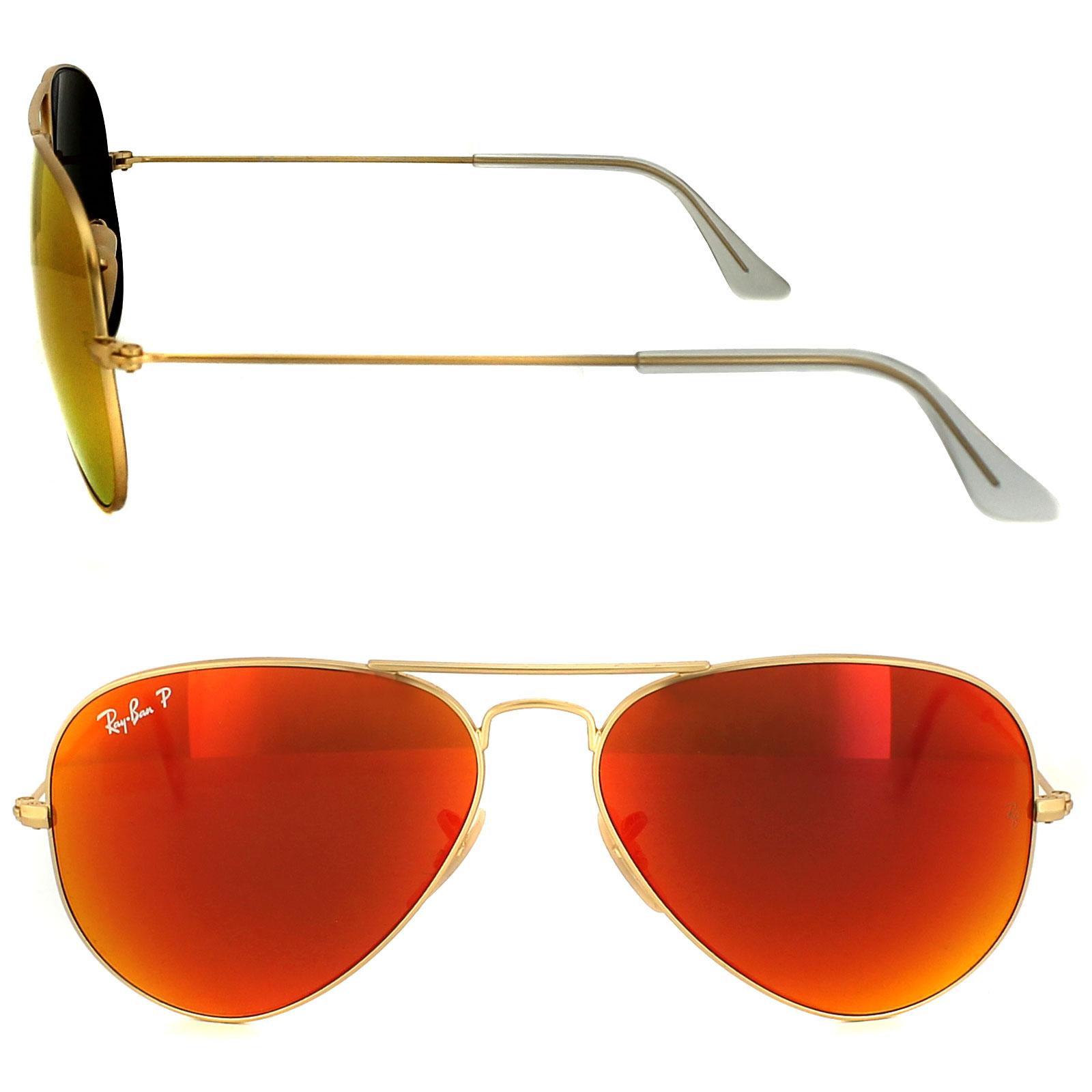 Ray-Ban Gafas de sol Aviador 3025 112 / 4d DORADO MATE ROJO ...