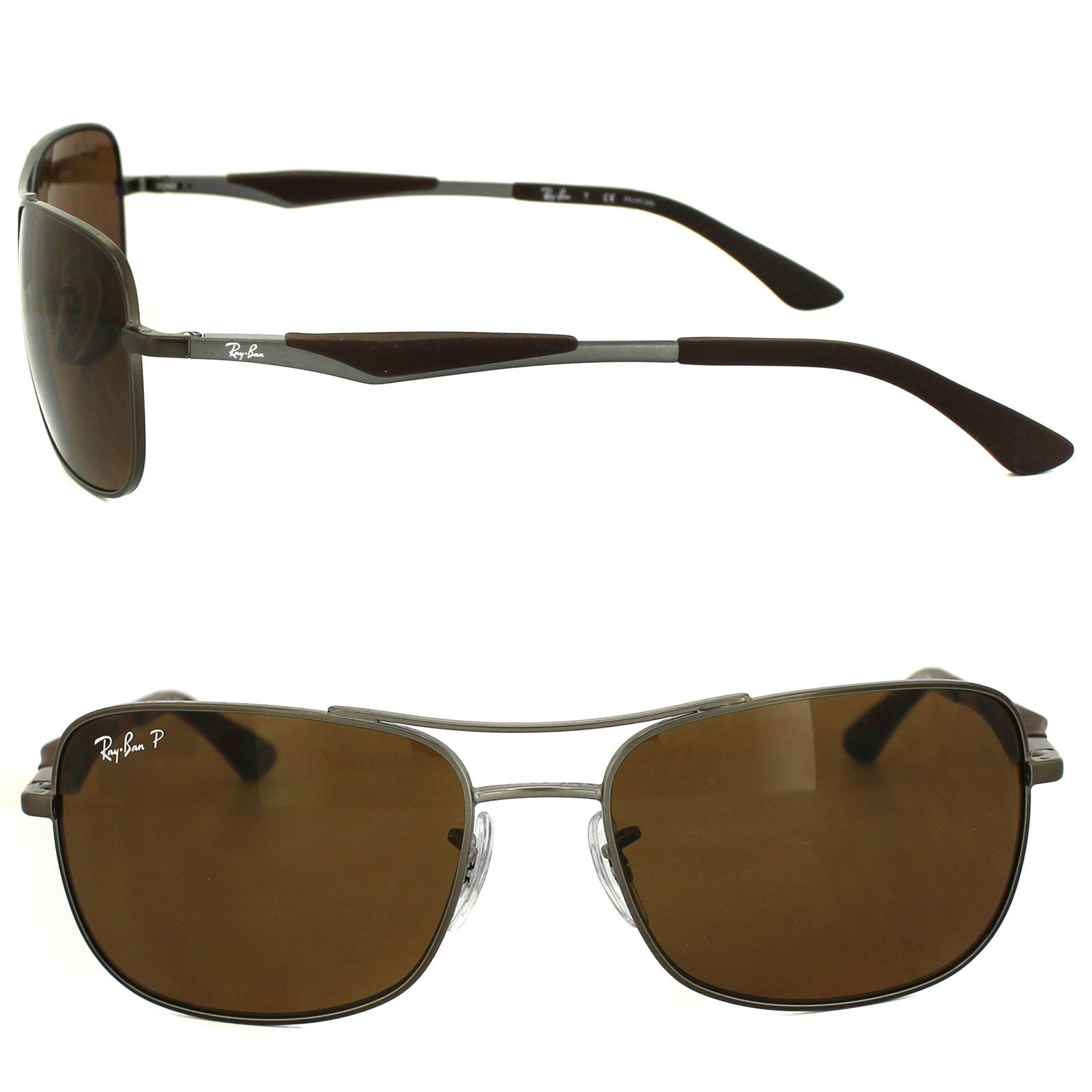 c4e1d0428f Sentinel Ray-Ban Sunglasses 3515 029 83 Matt Gunmetal Brown Polarized