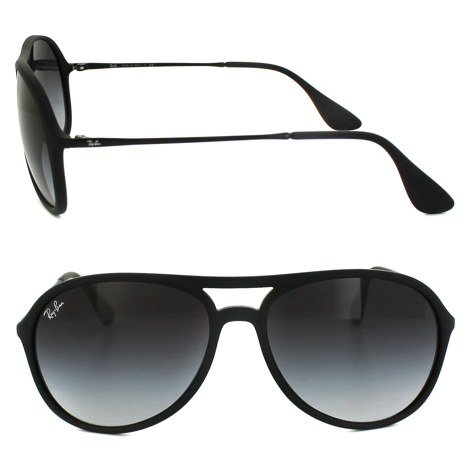 0f973858092 Sentinel Ray-Ban Sunglasses Alex 4201 622 8G Rubber Black Grey Gradient