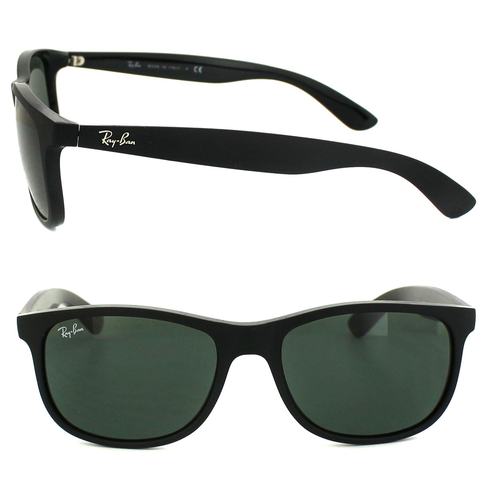 28afc9328b599 Ray-Ban Sunglasses Andy 4202 606971 Matt Black Green 8053672188868 ...