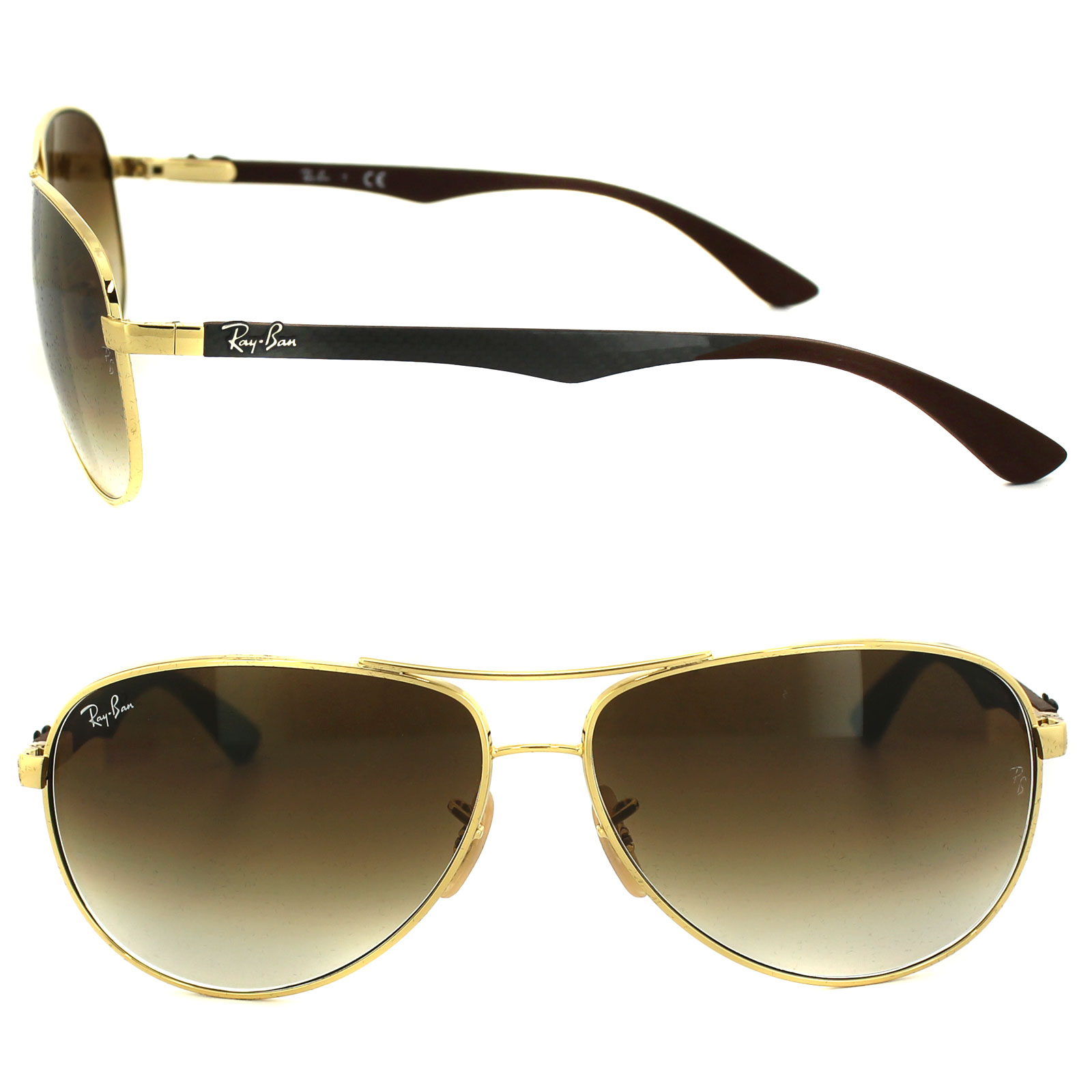 371af6db18 Ray-Ban Sunglasses 8313 001 51 Gold Brown Gradient 8053672006582