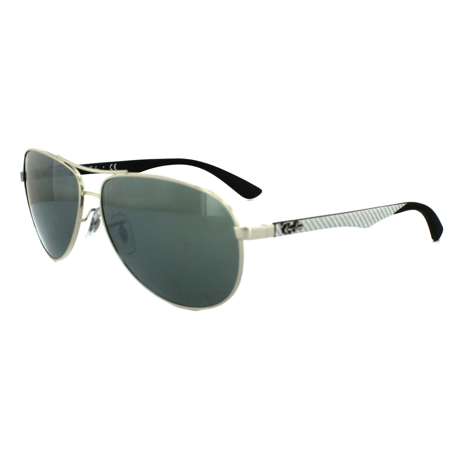 58d0385e7e5 Sentinel Ray-Ban Sunglasses 8313 003 40 Silver Grey Mirror