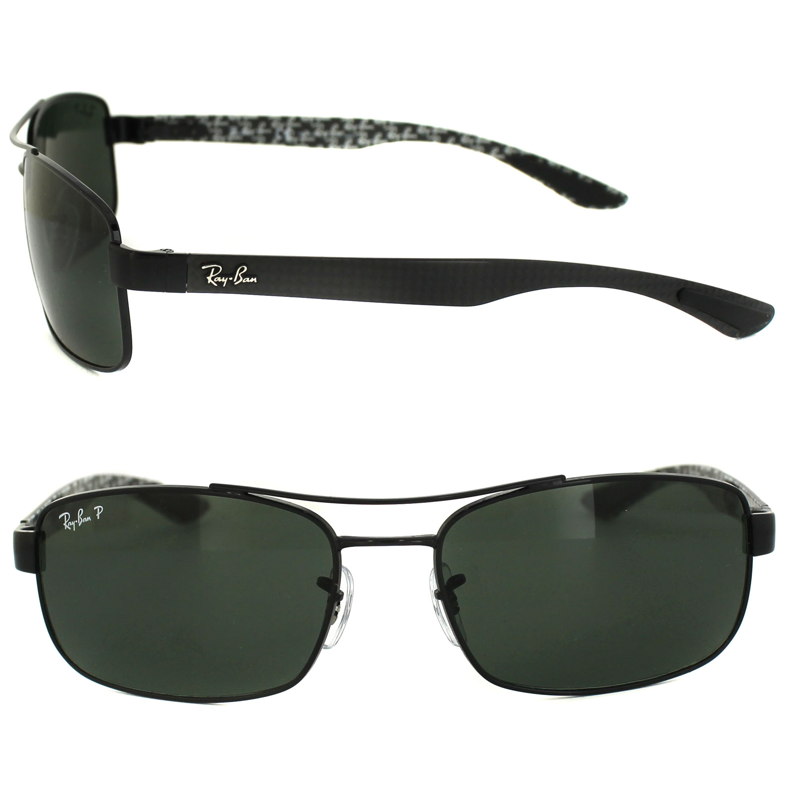6a498d161d8 ... sweden sentinel ray ban sunglasses 8316 002 n5 black green polarized  dcc3f 7e46d