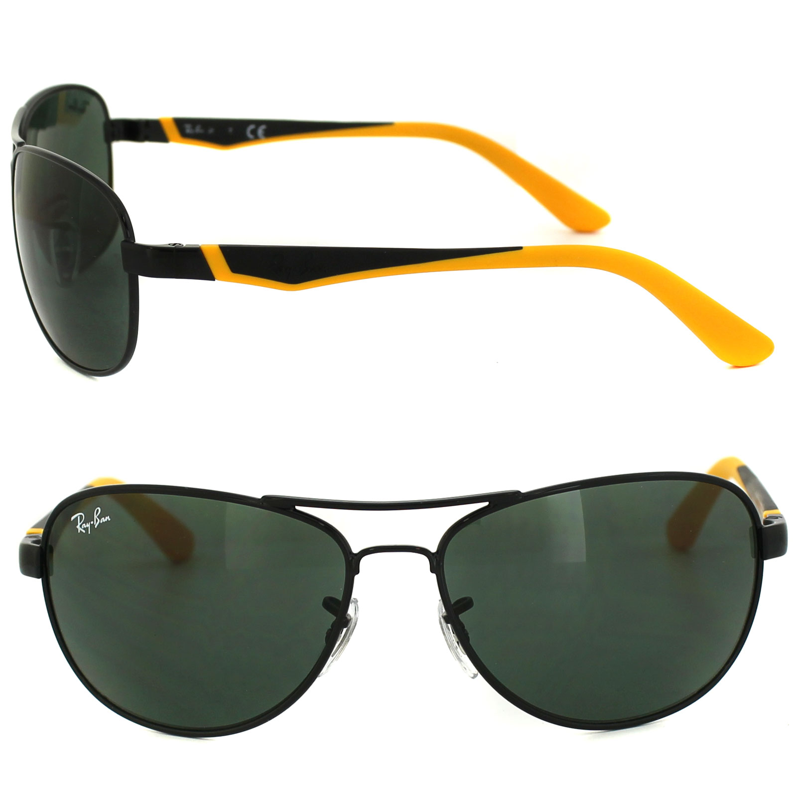 ac8aea689a Sentinel Ray-Ban Junior Sunglasses 9534 220 71 Shiny Black   Yellow Green