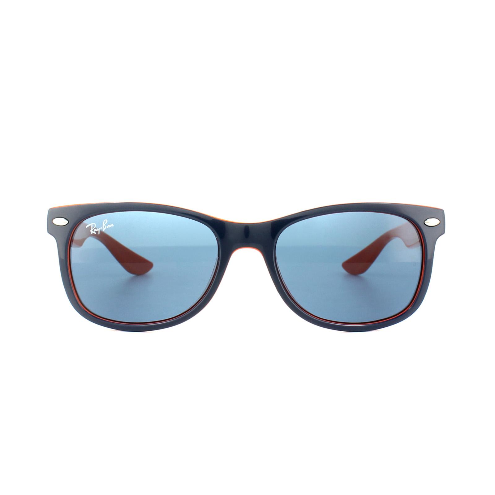 2c31530bc015c Sentinel Ray-Ban Junior Sunglasses 9052 178 80 Dark Blue   Orange Blue