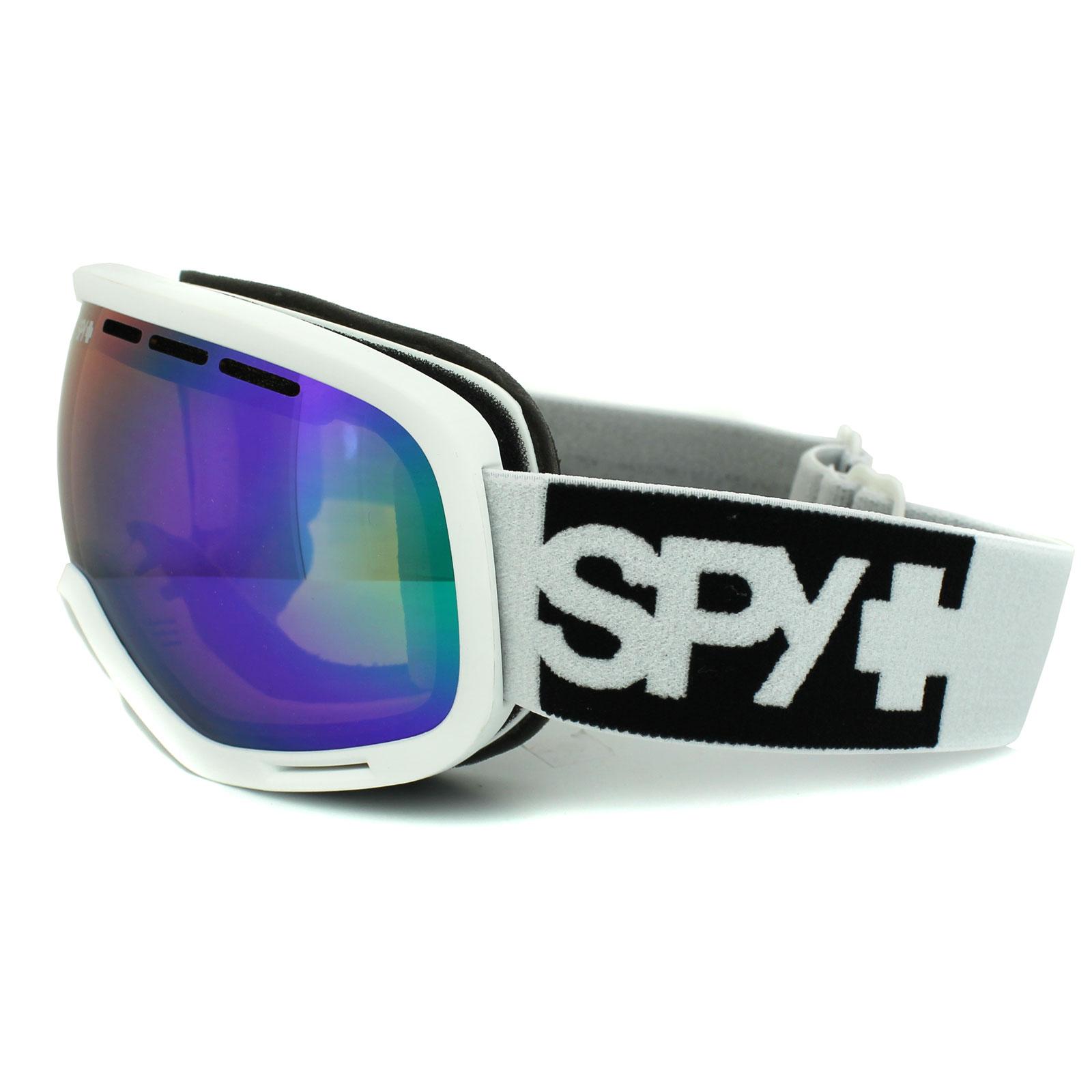1922dd506d5 Sentinel Spy Ski Snow Goggles Marshall White Bronze w  Green Spectra