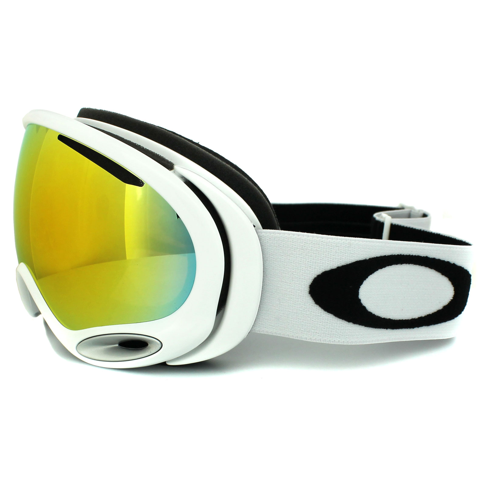 Oakley Ski Goggles A Frame 2.0 59-568 Polished White Fire Iridium | eBay