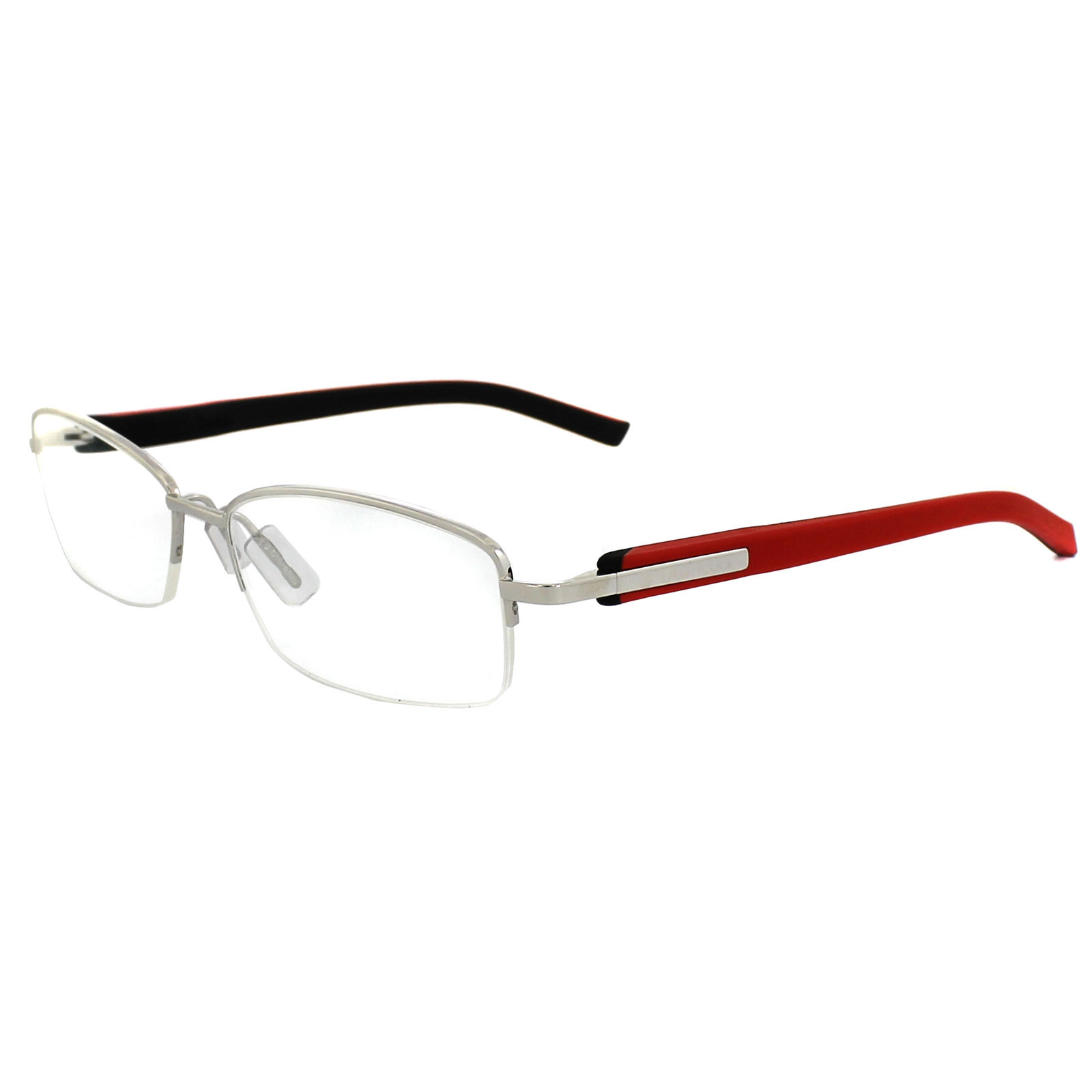 Tag Heuer Glasses Frames Trends 8210 005 Silver Black Red | eBay