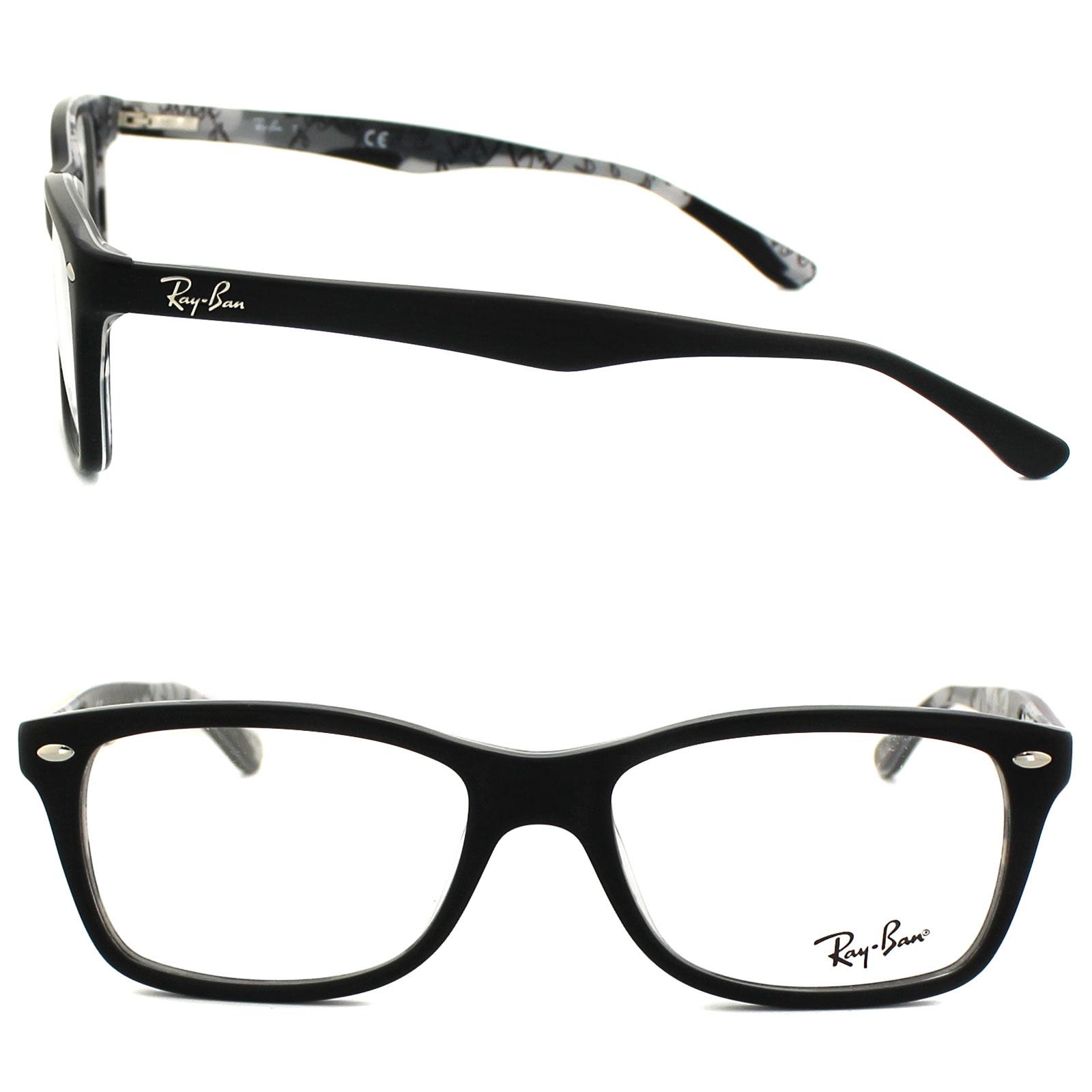 c306e03e94 Sentinel Ray-Ban Glasses Frames 5228 5405 Top Matt Black On Texture  Camouflage 53mm