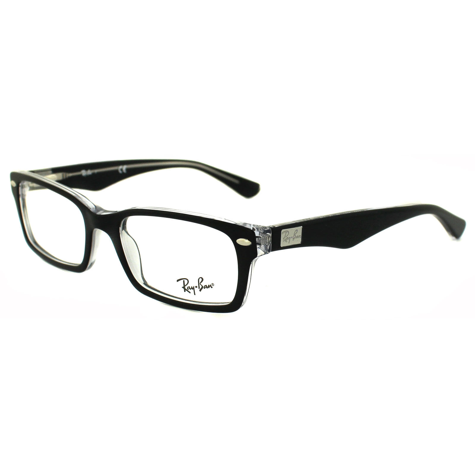 Ray-Ban Glasses Frames 5206 2034 Top Black on Transparent 52mm ...