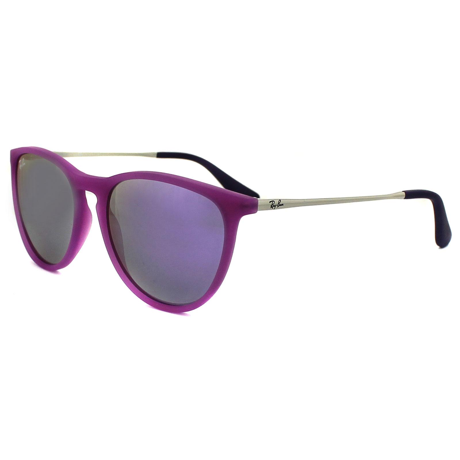 ray ban junior sunglasses izzy 9060 70084v rubber violet. Black Bedroom Furniture Sets. Home Design Ideas