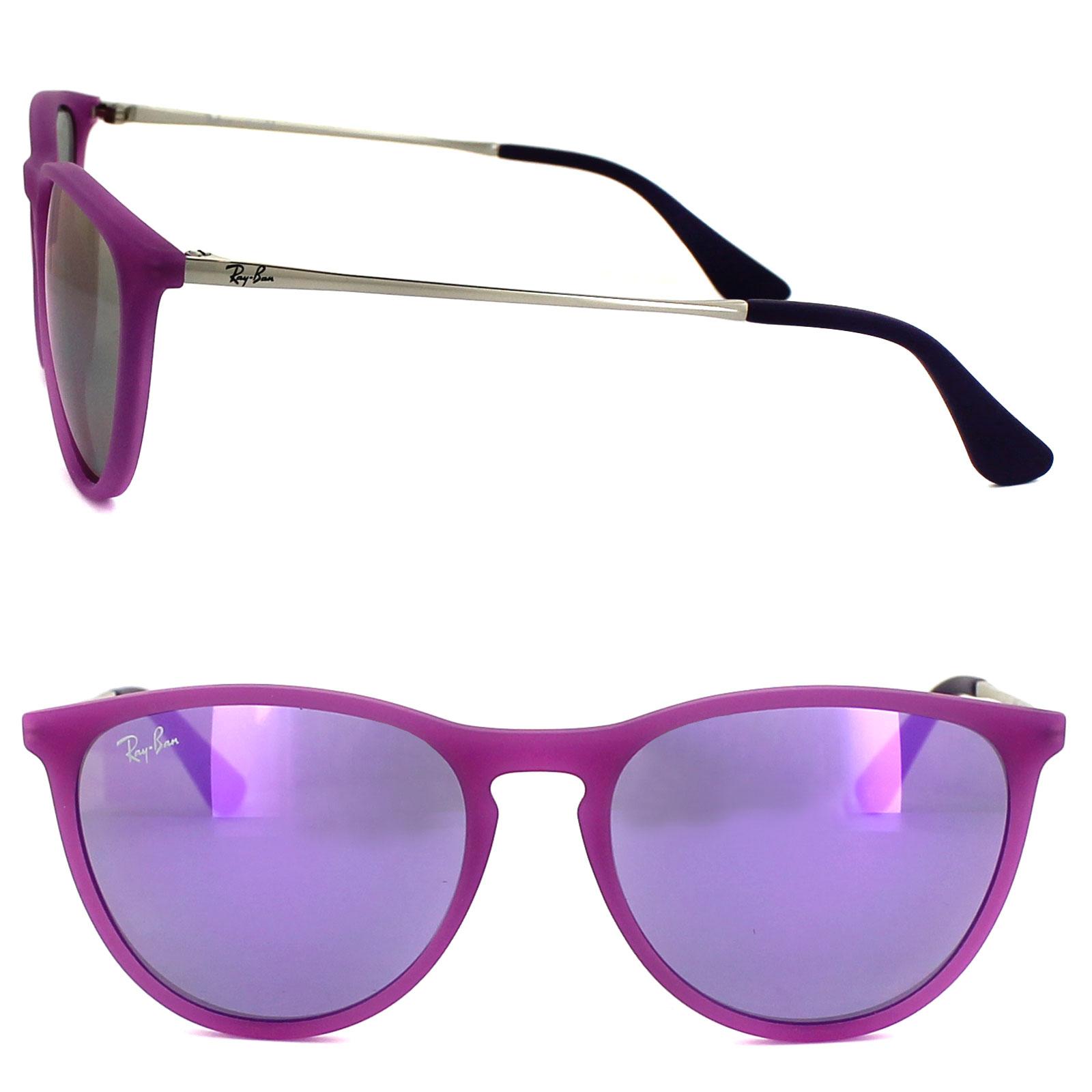 55815c69eca Sentinel Ray-Ban Junior Sunglasses Izzy 9060 70084V Rubber Violet Violet  Mirror