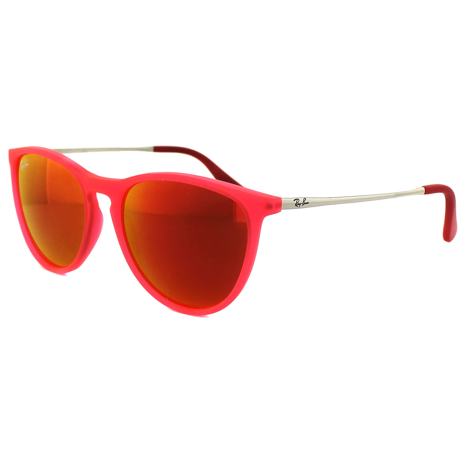 8acedf13b5 Sentinel Ray-Ban Junior Sunglasses Izzy 9060 70096Q Rubber Pink Red Mirror