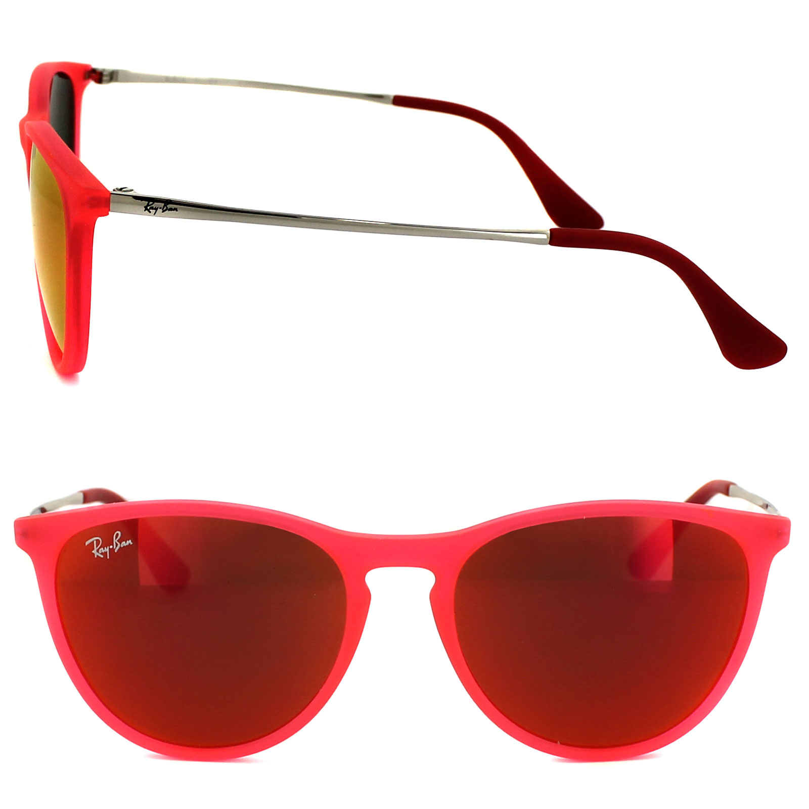 5030073c32c93 Sentinel Ray-Ban Junior Sunglasses Izzy 9060 70096Q Rubber Pink Red Mirror