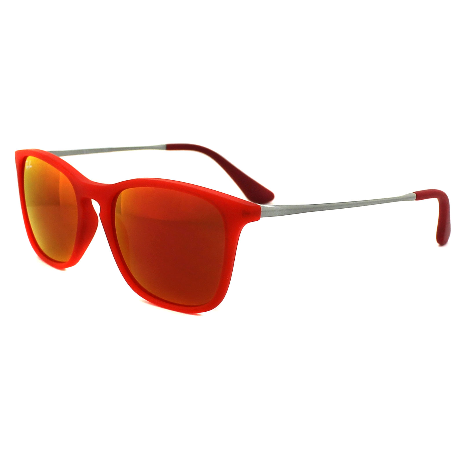 29383d2146 Sentinel Ray-Ban Junior Sunglasses Chris Junior 9061 70106Q Rubber Red Red  Mirror