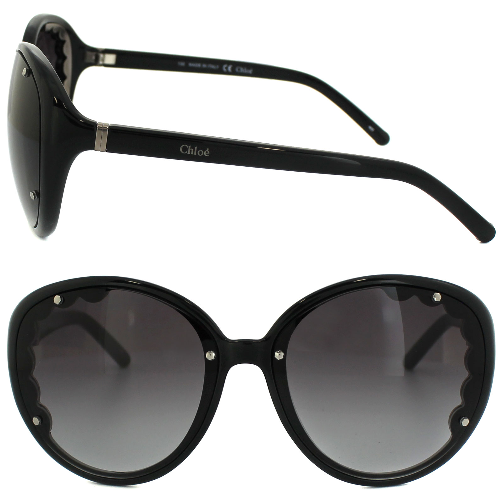 e7f42bcaa92 Chloe Sunglasses CE 652S 001 Black Black Gradient 883121963436