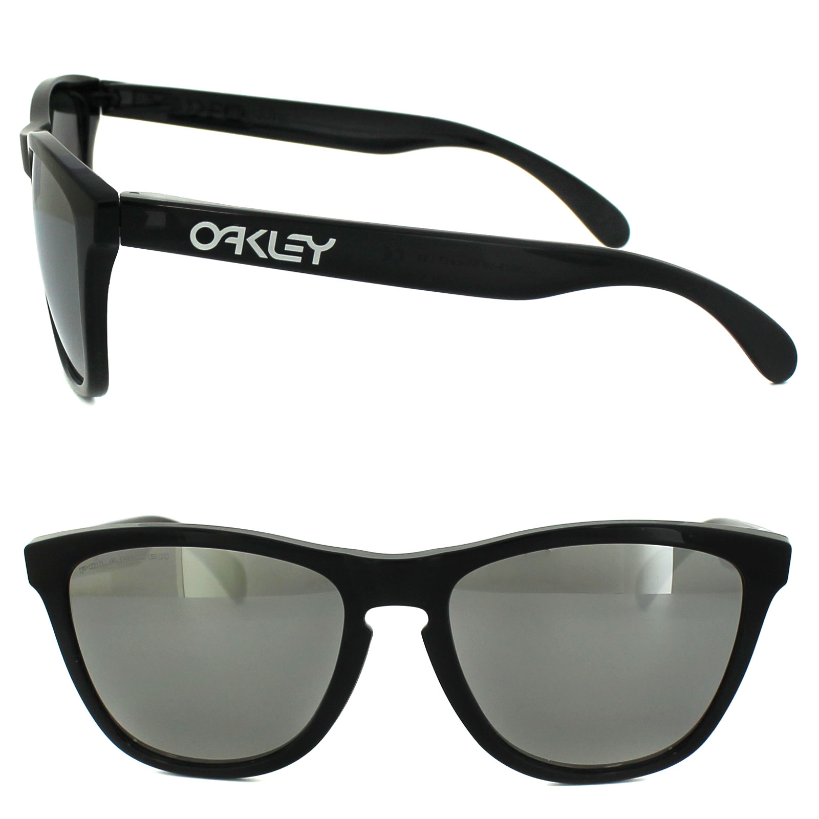 Oakley Frogskins Black Ink / Chrome Iridium Polarized 9013-10 CvIdn6cp