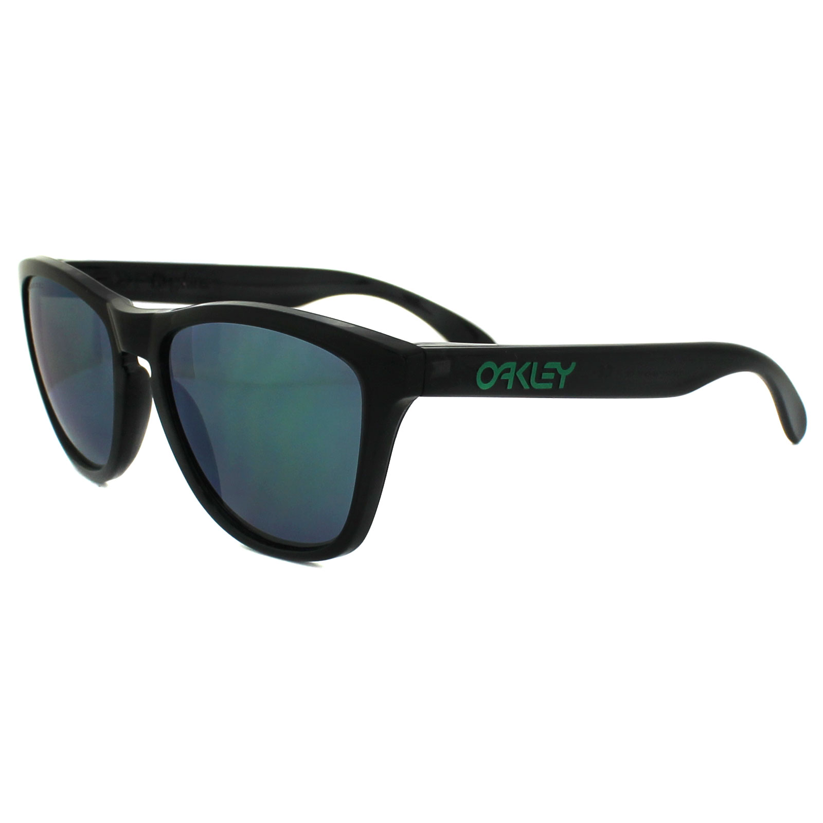 Oakley Frogskins Black Ink / Jade Iridium Polarized 9013-11 o3oP0RmU