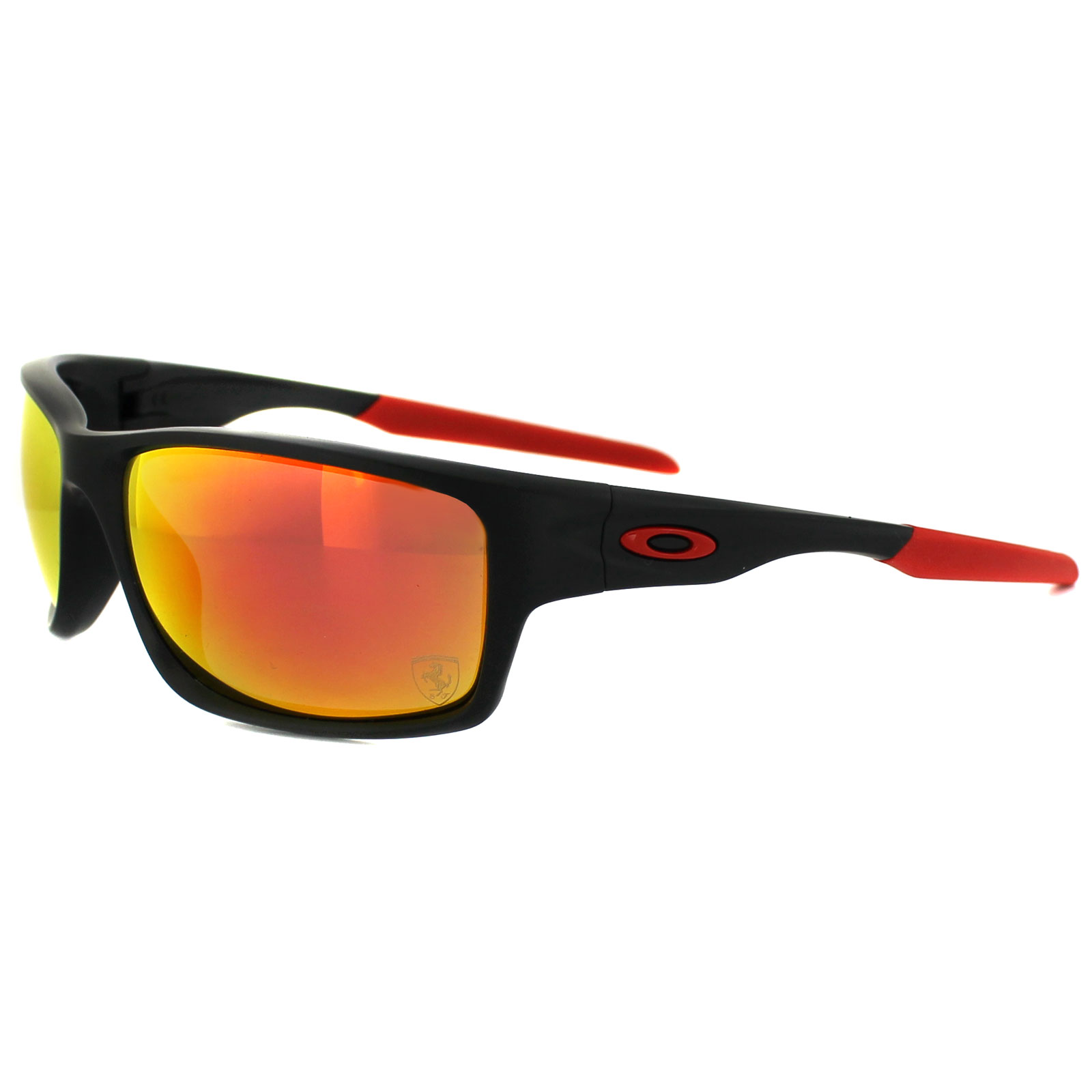 8e229bcfb0 Oakley Sunglasses Canteen 9225-06 Ferrari Matt Black Ruby Iridium Polarized  Thumbnail 1 ...