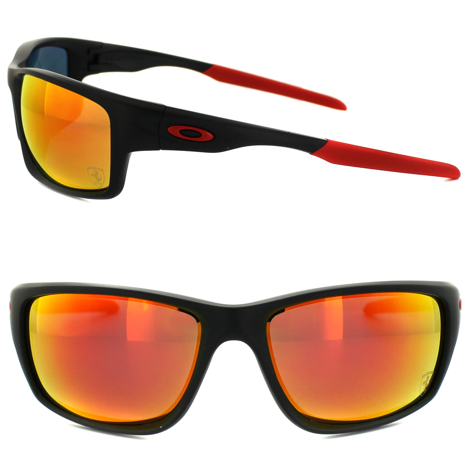 dc1b7c1ce2 ... Oakley Sunglasses Canteen 9225-06 Ferrari Matt Black Ruby Iridium  Polarized Thumbnail 2 ...