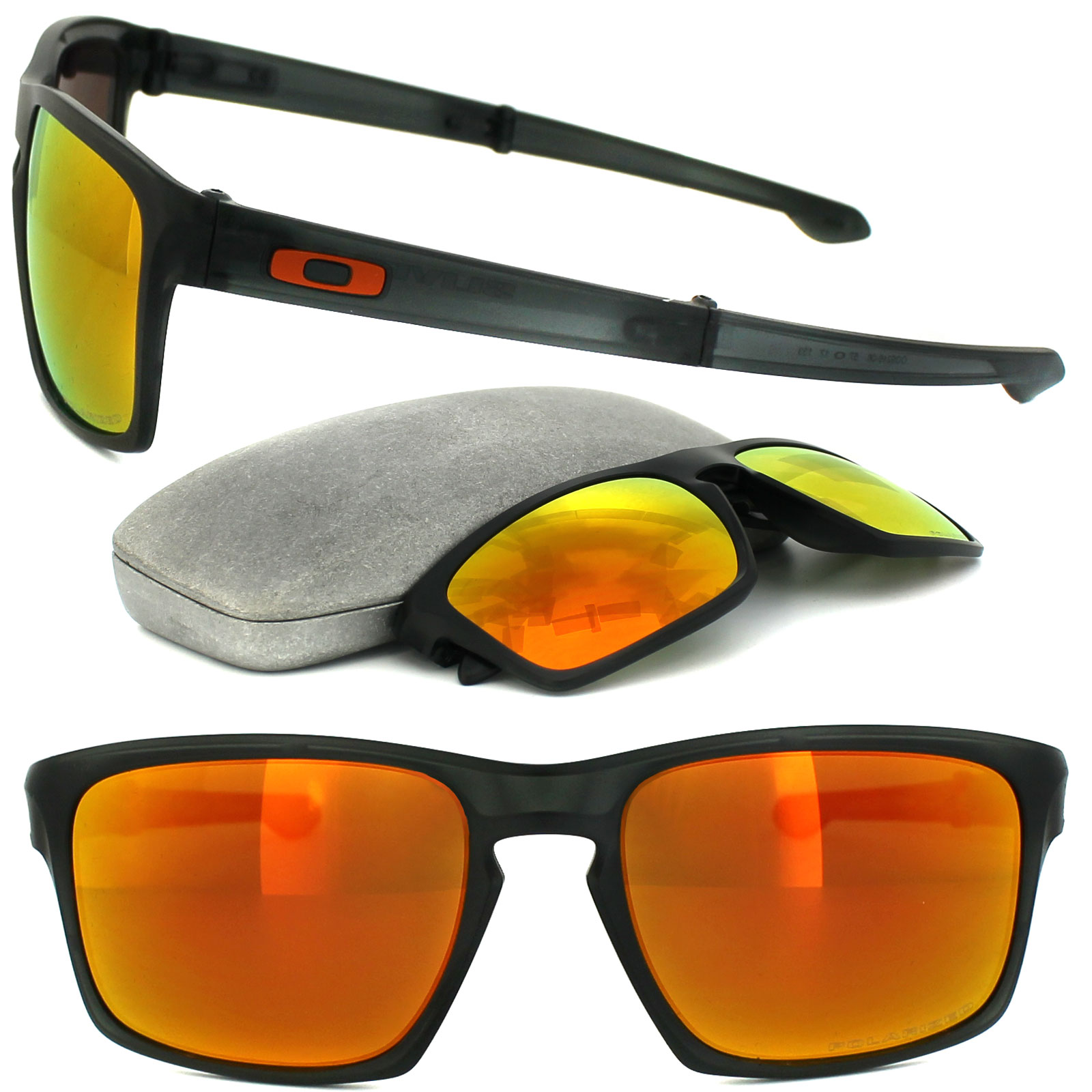 140901d0e1a Sentinel Oakley Sunglasses Sliver F OO9246-06 Grey Ink Fire Iridium  Polarized