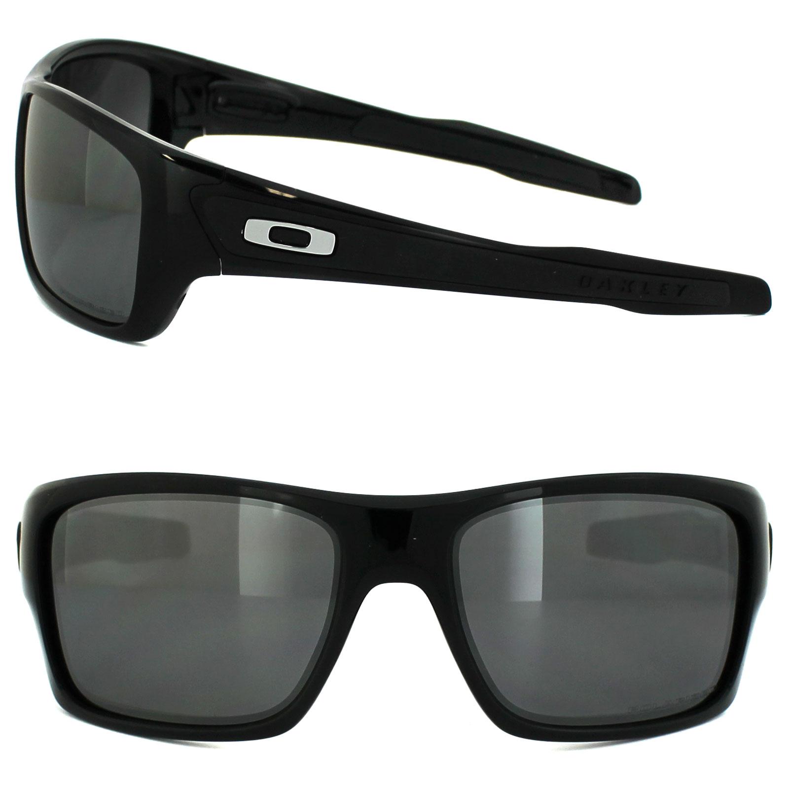 bf2153e259 Sentinel Oakley Sunglasses Turbine OO9263-08 Polished Black Black Iridium  Polarized