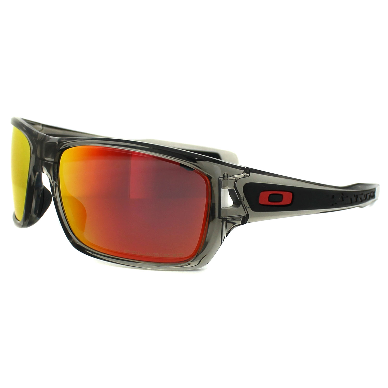 91a3b0d92d7 Sentinel Oakley Sunglasses Turbine OO9263-10 Grey Ink Ruby Iridium Polarized