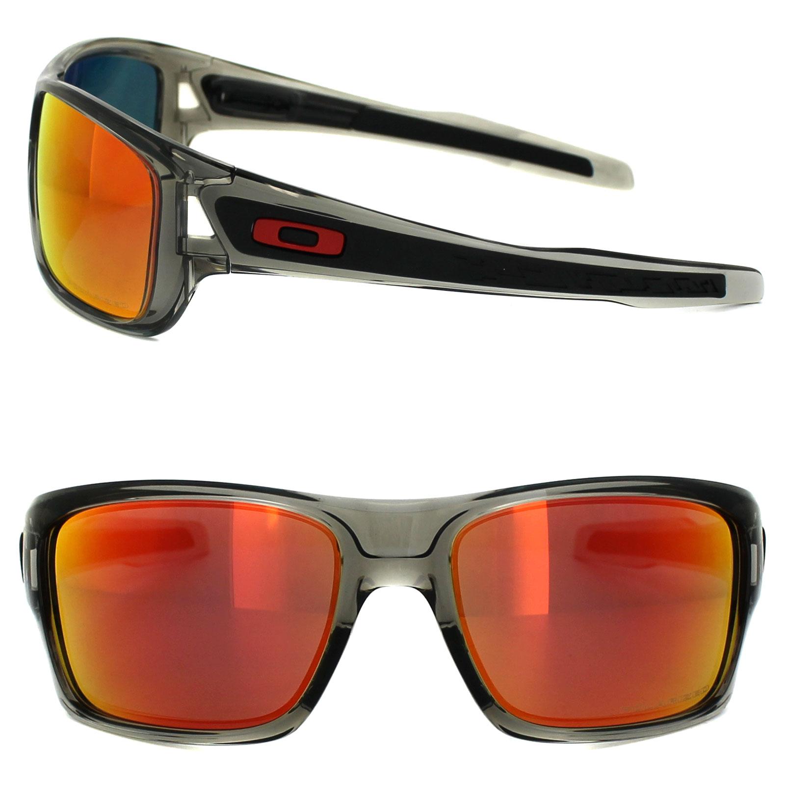 7eb63f00bab Sentinel Oakley Sunglasses Turbine OO9263-10 Grey Ink Ruby Iridium Polarized
