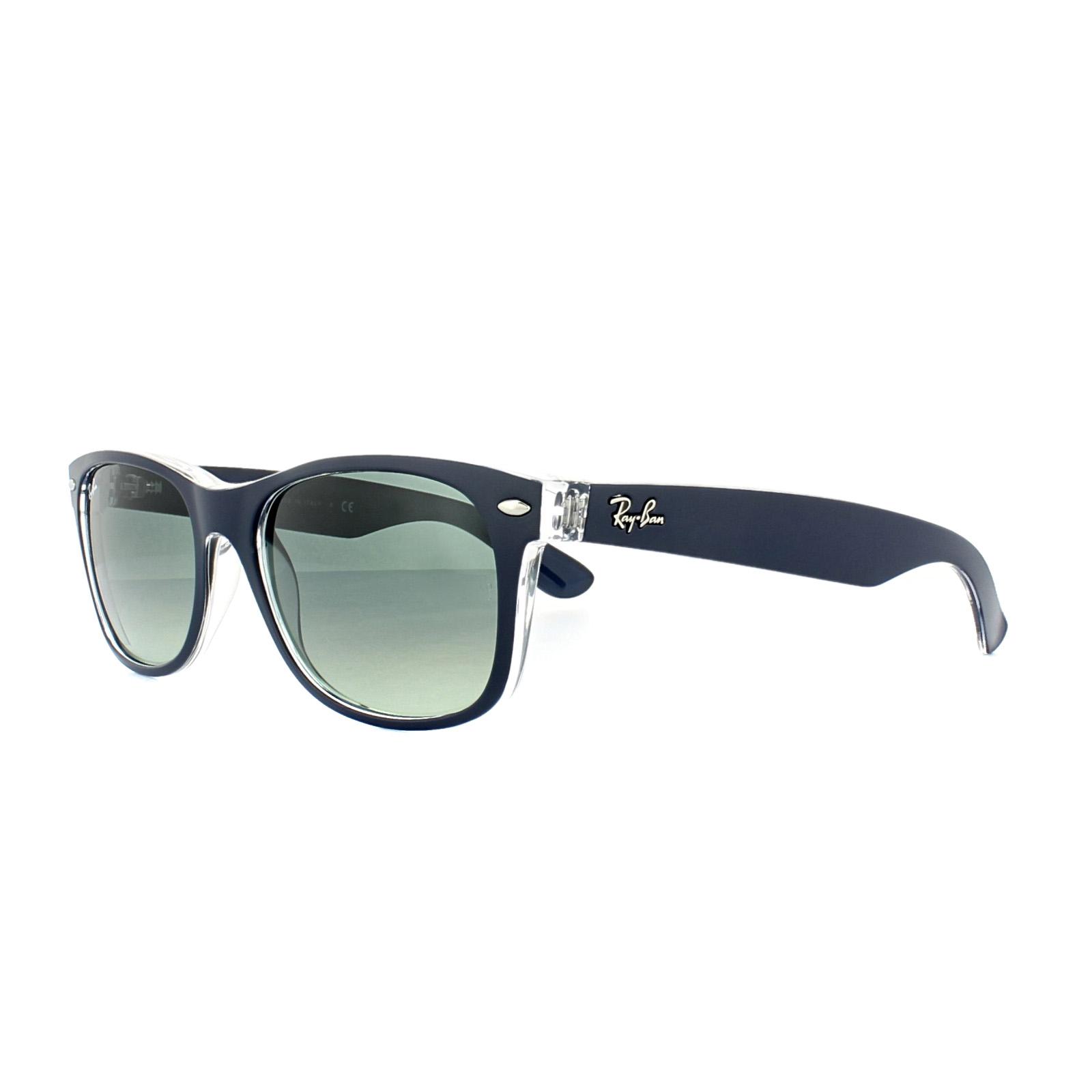 eb63e33926 Sentinel Ray-Ban Sunglasses New Wayfarer 2132 605371 Blue Transparent Grey  Gradient Med