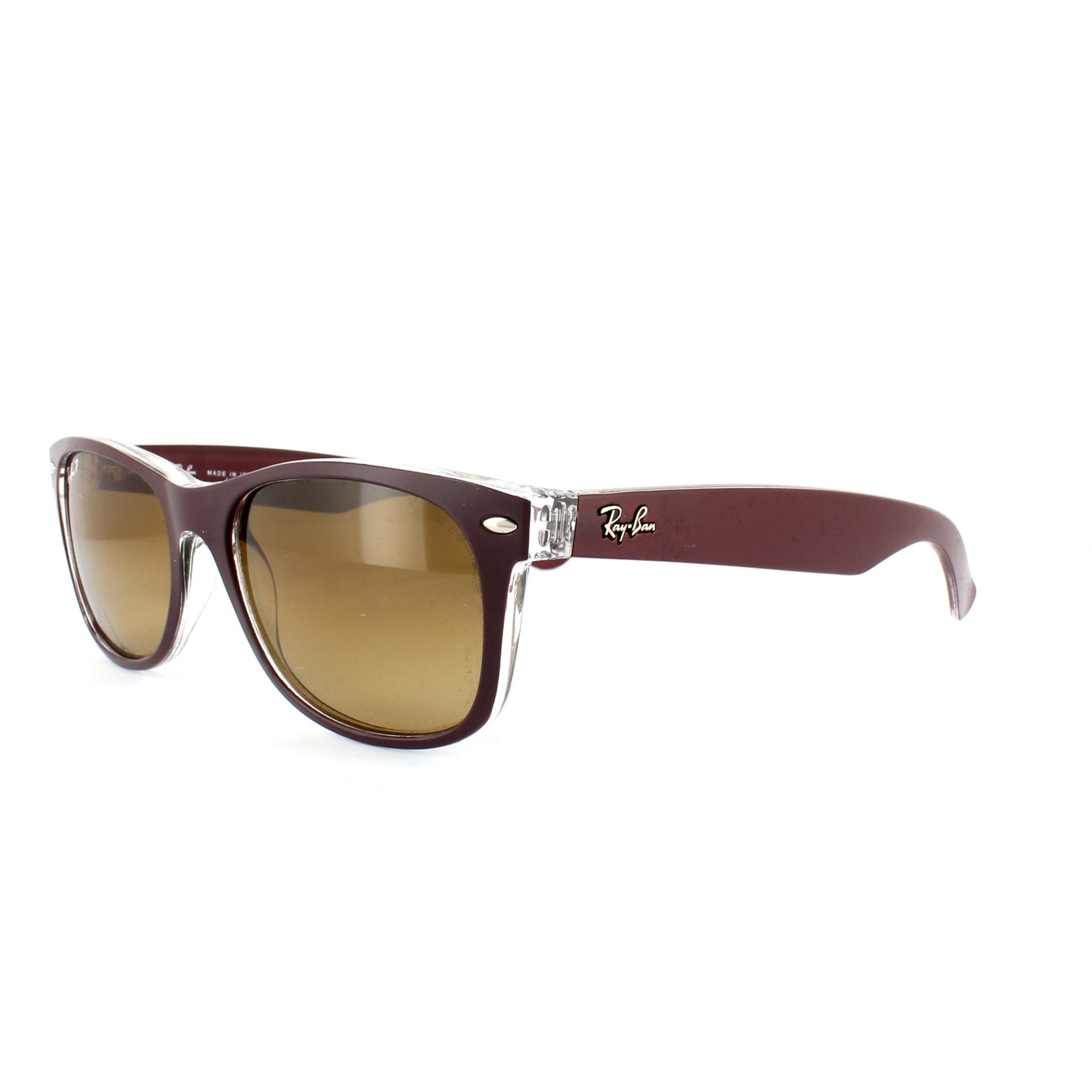 ray ban sonnenbrille braun rot