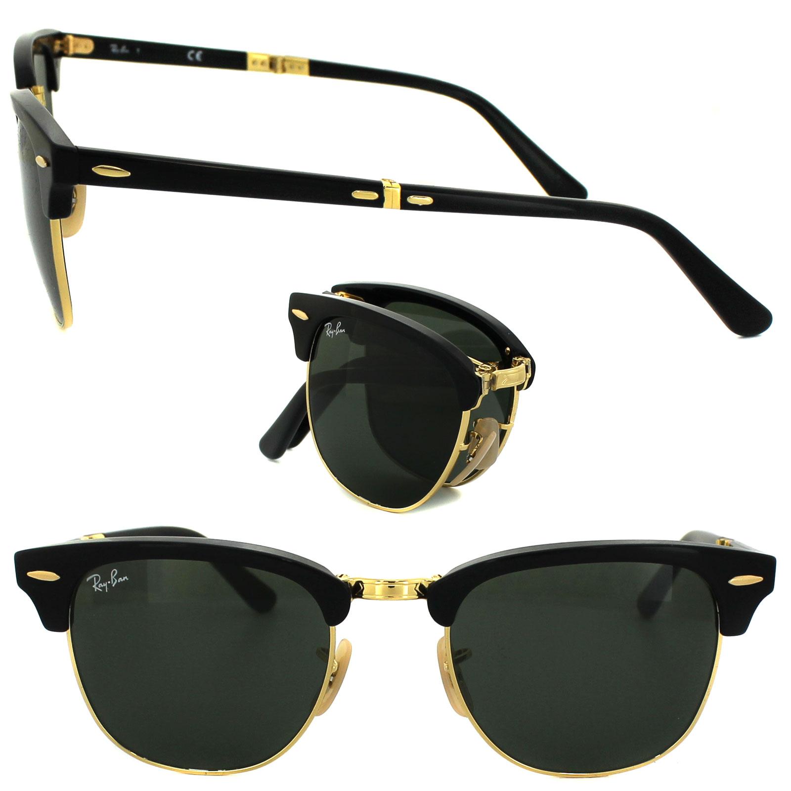 adab0fb8da CENTINELA Ray-Ban gafas de sol Clubmaster plegable 2176 901 negro verde