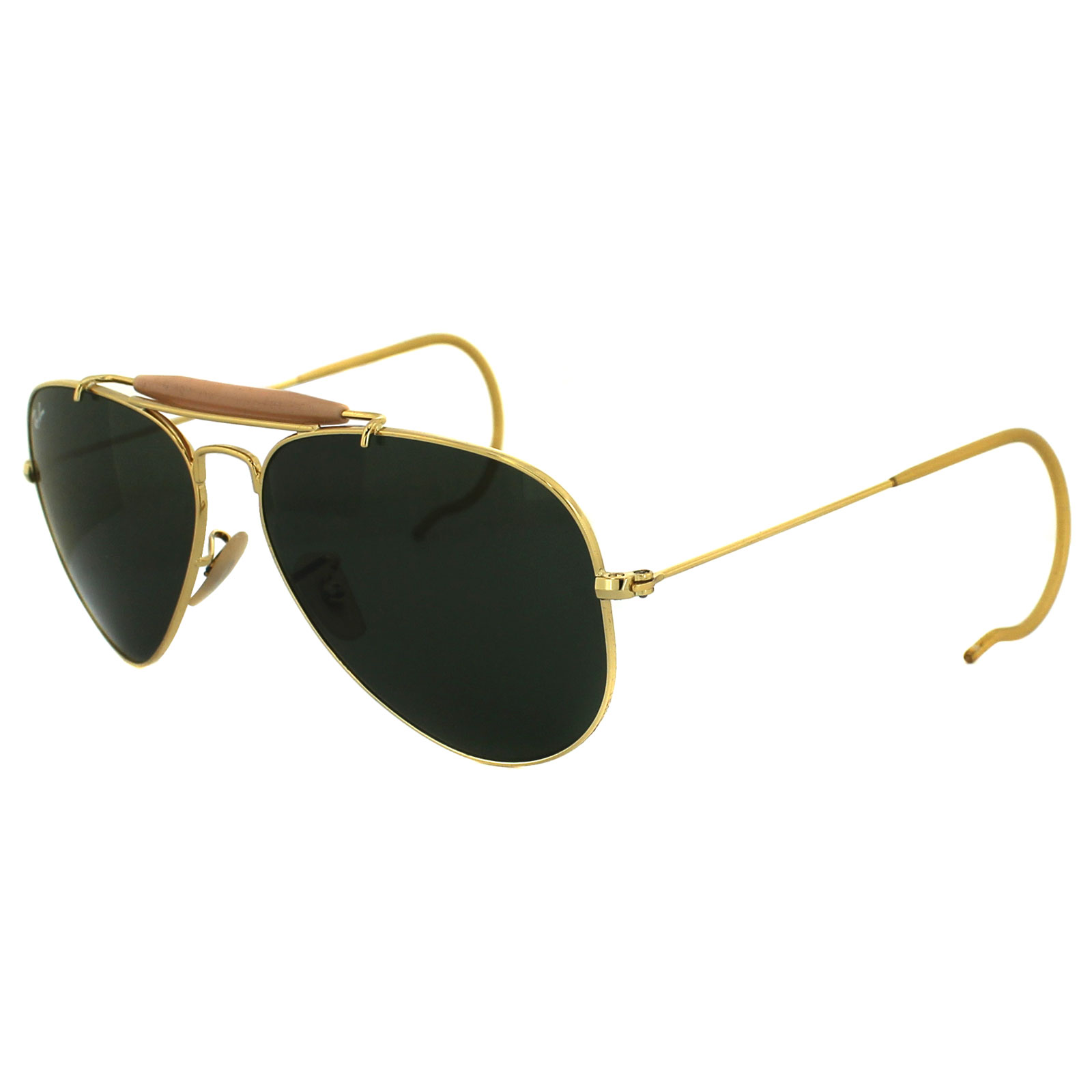 a5192093e2 Ray-Ban Sunglasses Outdoorsman 3030 L0216 Gold Green 805289602163