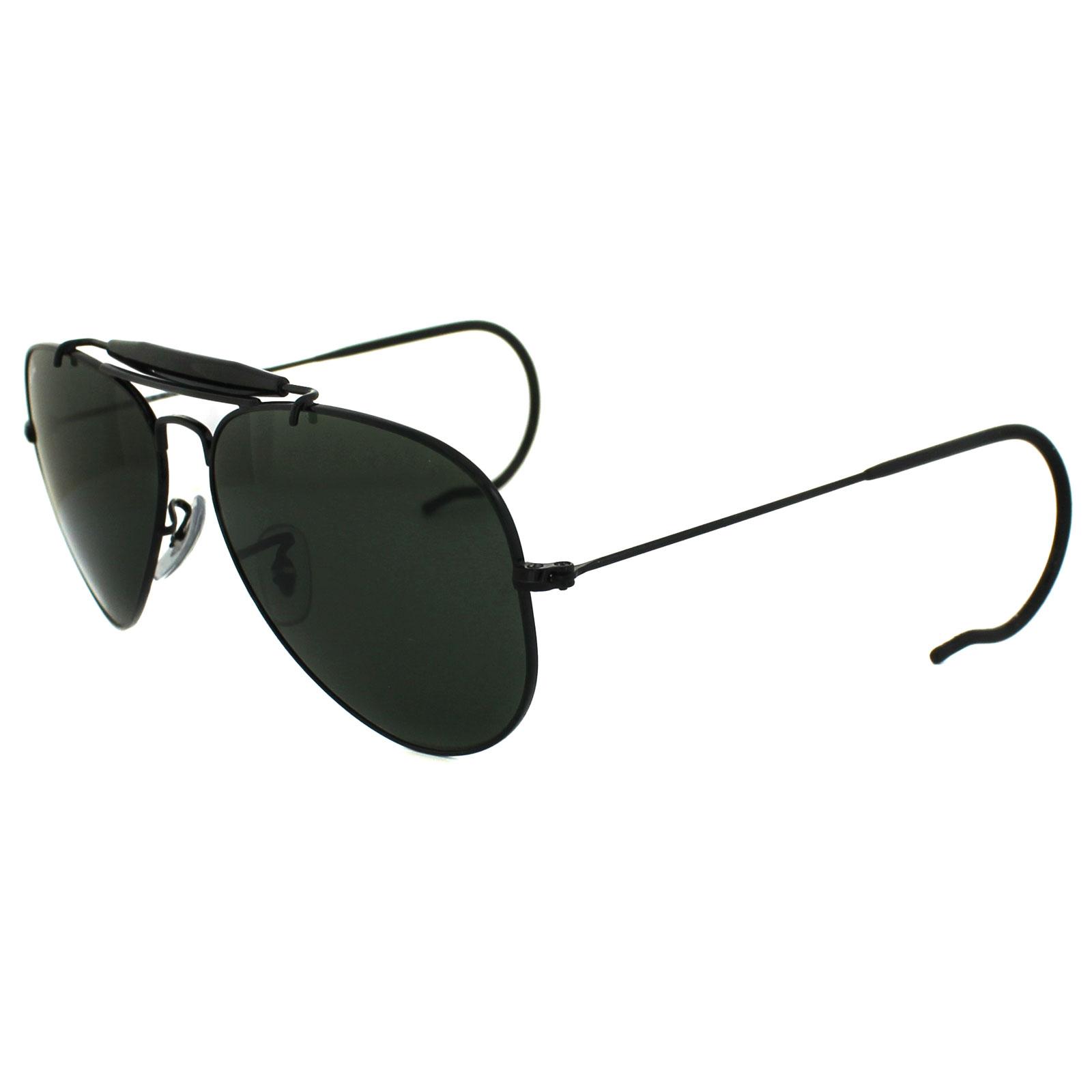 6a3fa913096 Ray-Ban Sunglasses Outdoorsman 3030 L9500 Black Green 805289695004 ...