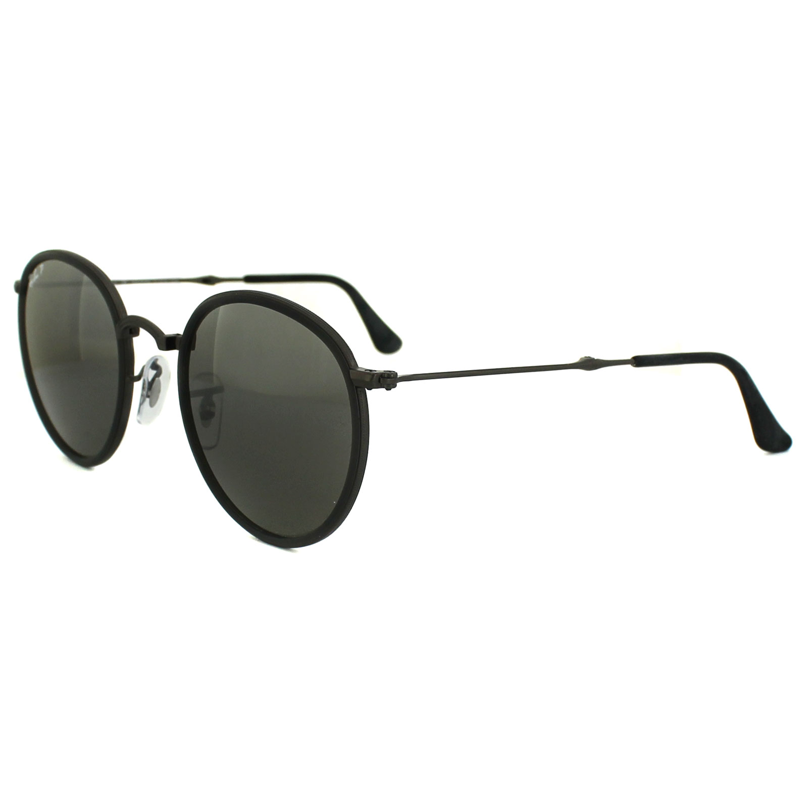 bcd44b064d198 ... metal black grey gradient 97c8b ec1f3  shop sentinel ray ban sunglasses  round folding 3517 029 n8 gunmetal silver gradient polarized 623bf edc07
