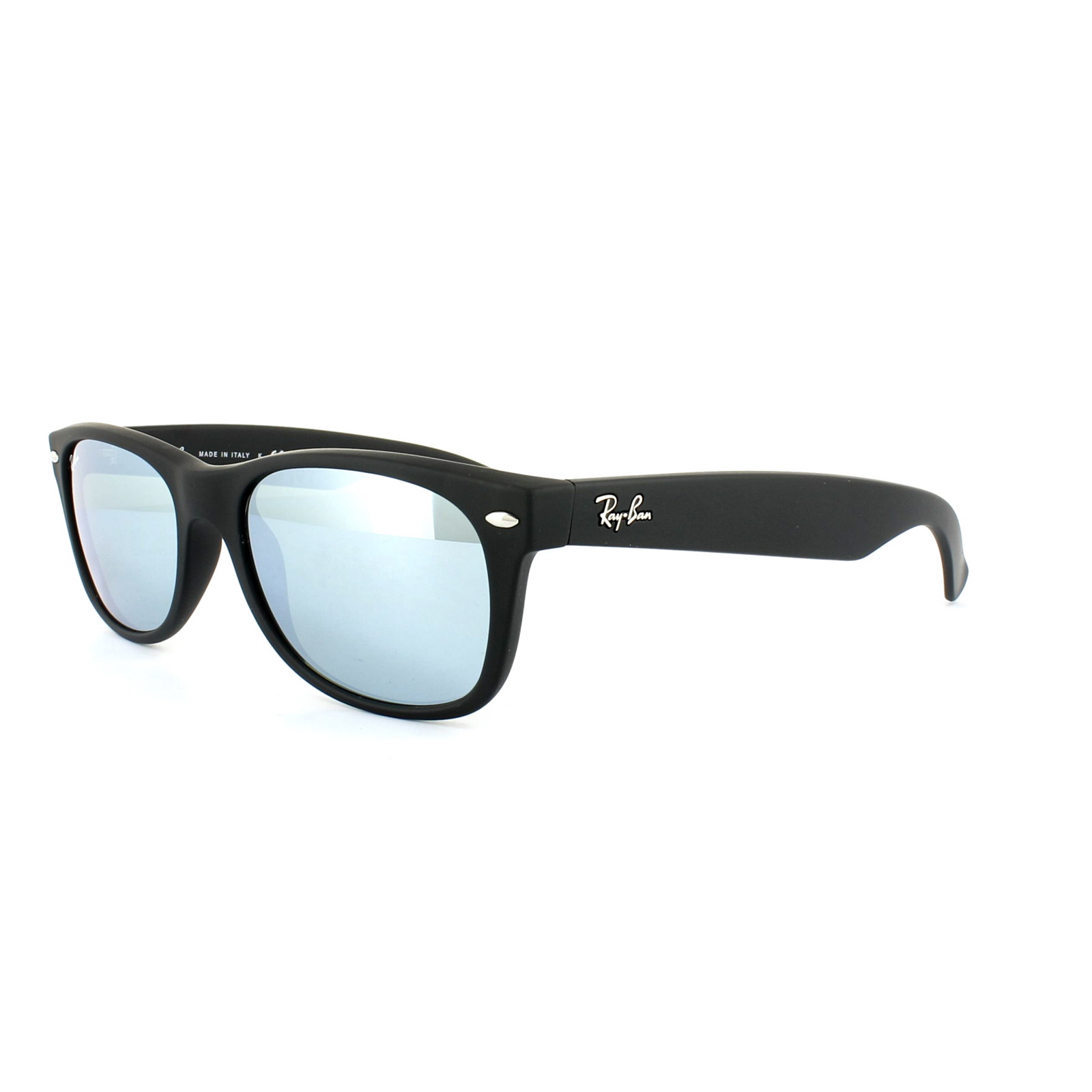 0ead64e4088 Sentinel Ray-Ban Sunglasses New Wayfarer 2132 622 30 Rubber Black Silver  Flash Mirror S