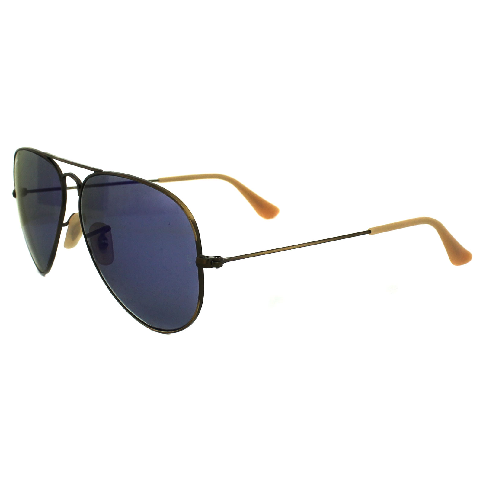 db7a8c7dd4 Sentinel Ray-Ban Sunglasses Aviator 3025 167 68 Brushed Bronze Blue Violet Flash  Mirror M