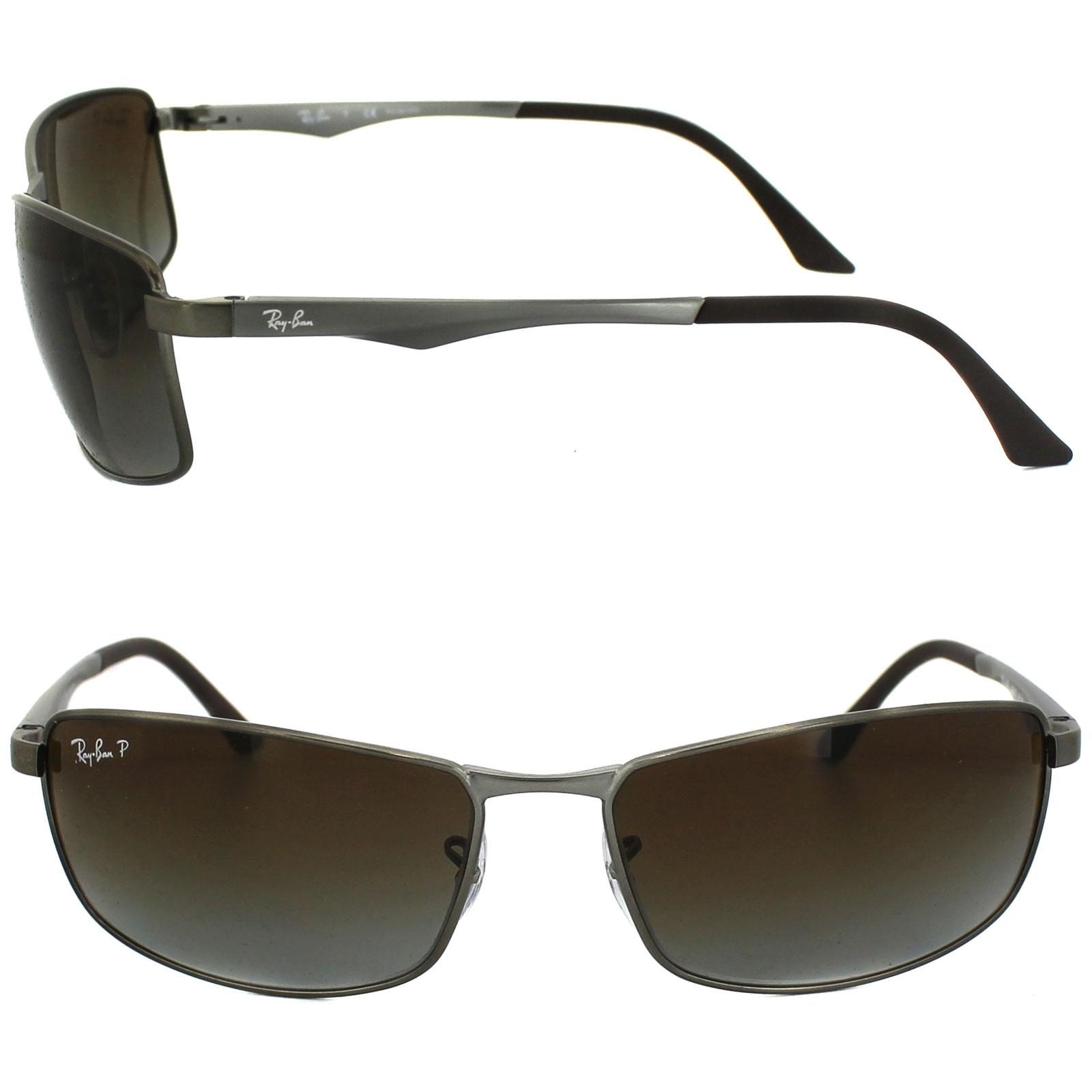 325bd21103aaca CENTINELA Polarizadas de Ray-Ban gafas de sol 3498 029 T5 Gunmetal marrón  degradado