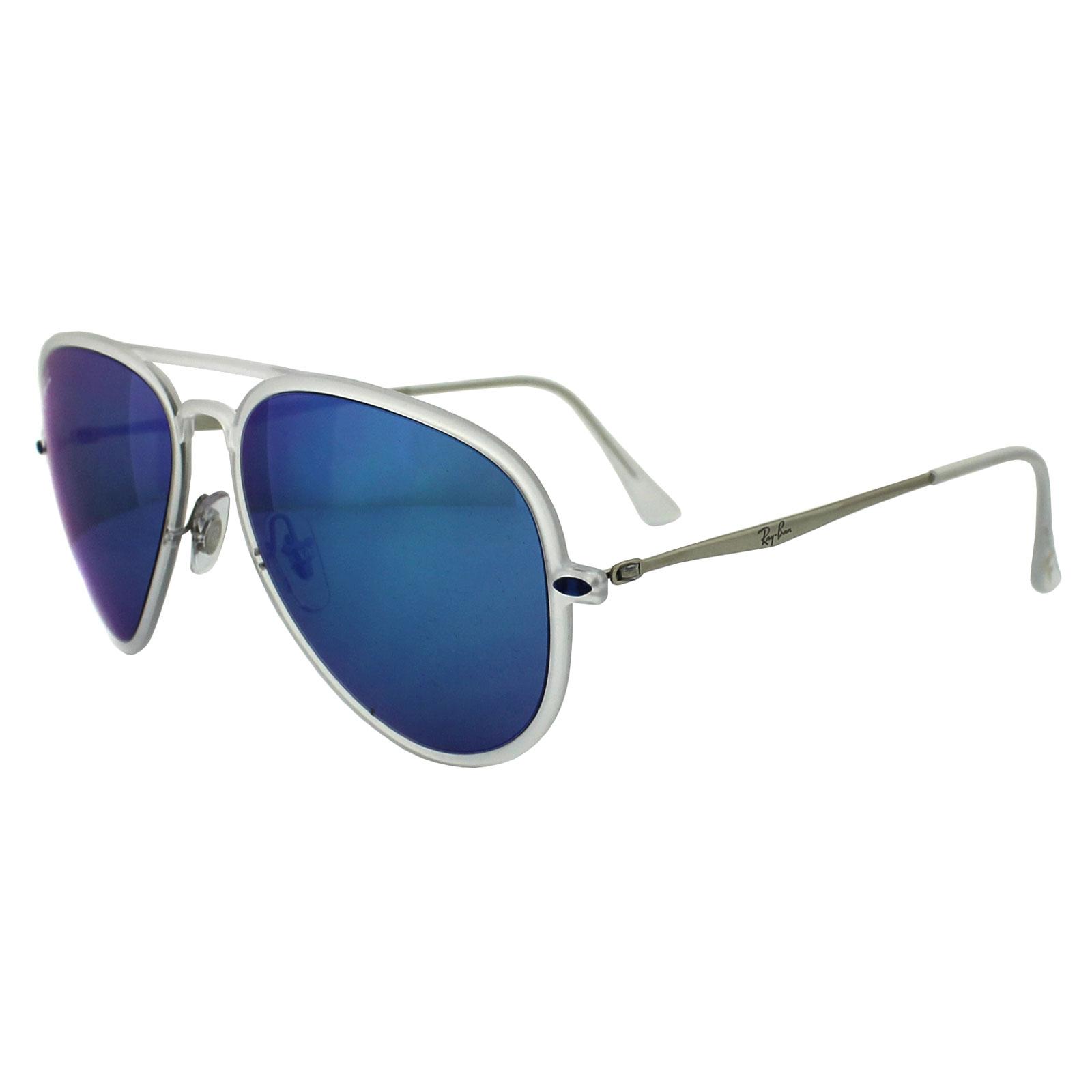 a8123ca6e0 Sentinel Ray-Ban Sunglasses Aviator Light Ray II 4211 646 55 Matt  Transparent Blue Mirror