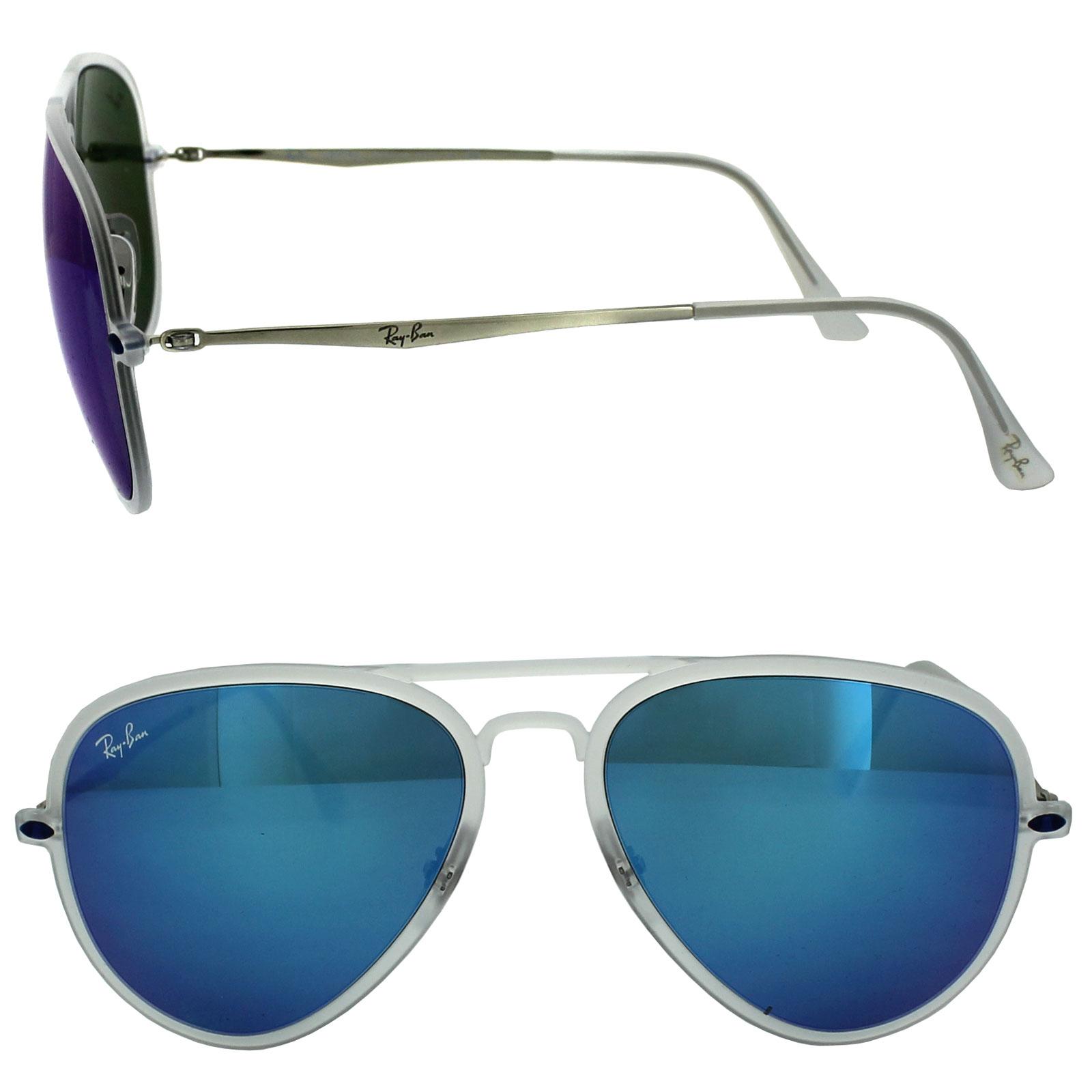 Sentinel Thumbnail 2. Sentinel Ray-Ban Sunglasses Aviator Light Ray II 4211  646 55 Matt Transparent Blue Mirror 26e4ffaff5