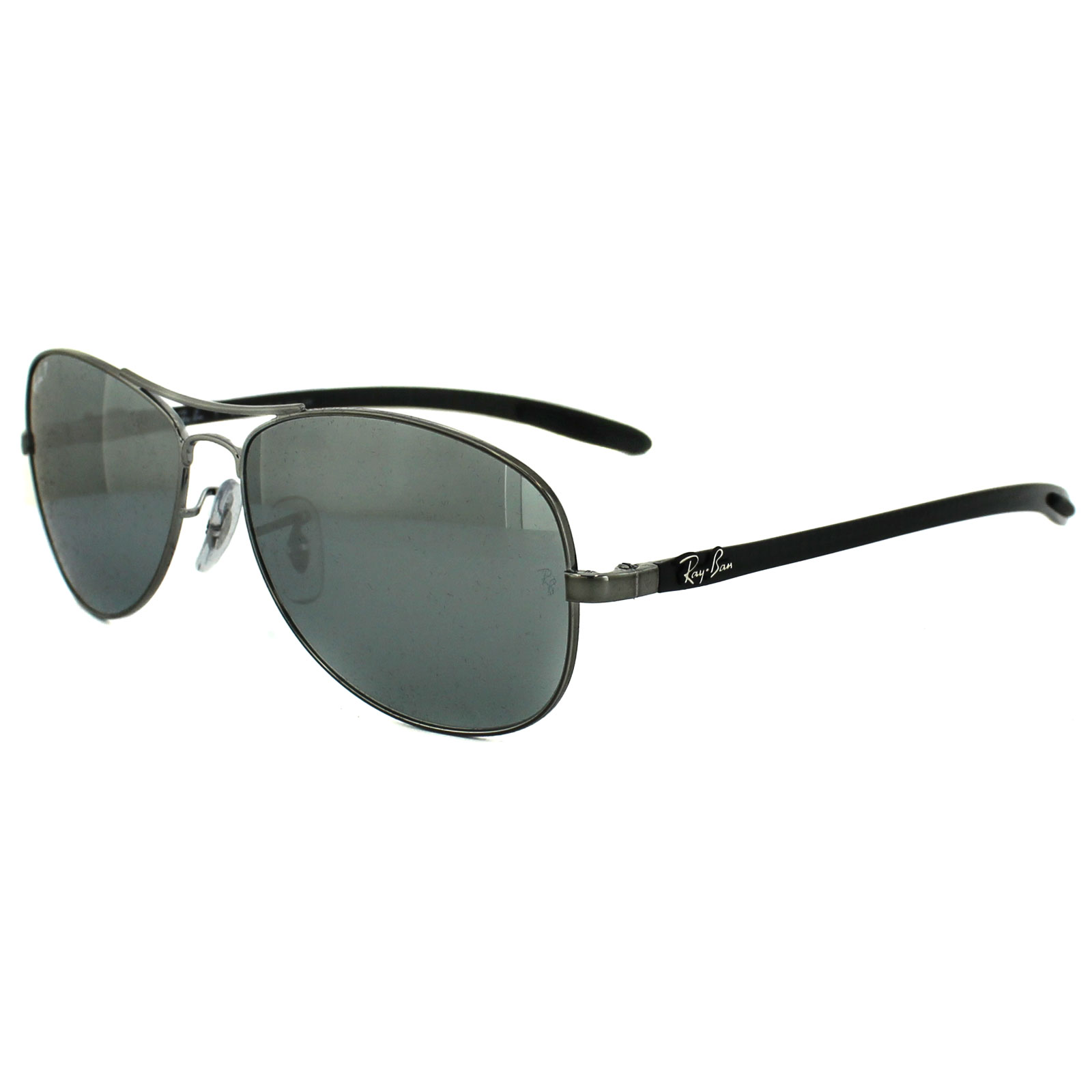 e1c259ccba Sentinel Ray-Ban Sunglasses 8301 004 K6 Shiny Gunmetal Grey Polarized