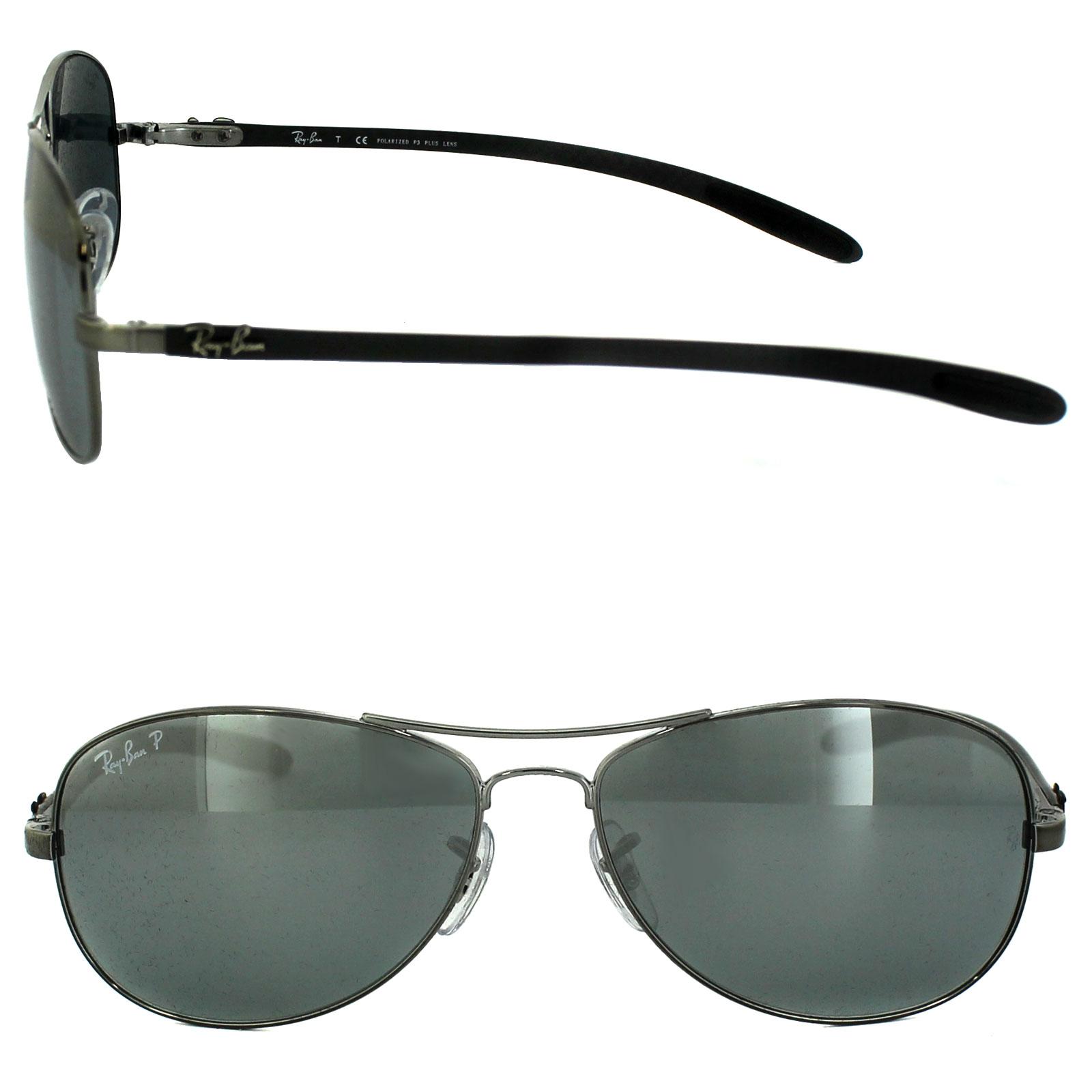 221b4c22ca Sentinel Ray-Ban Sunglasses 8301 004 K6 Shiny Gunmetal Grey Polarized