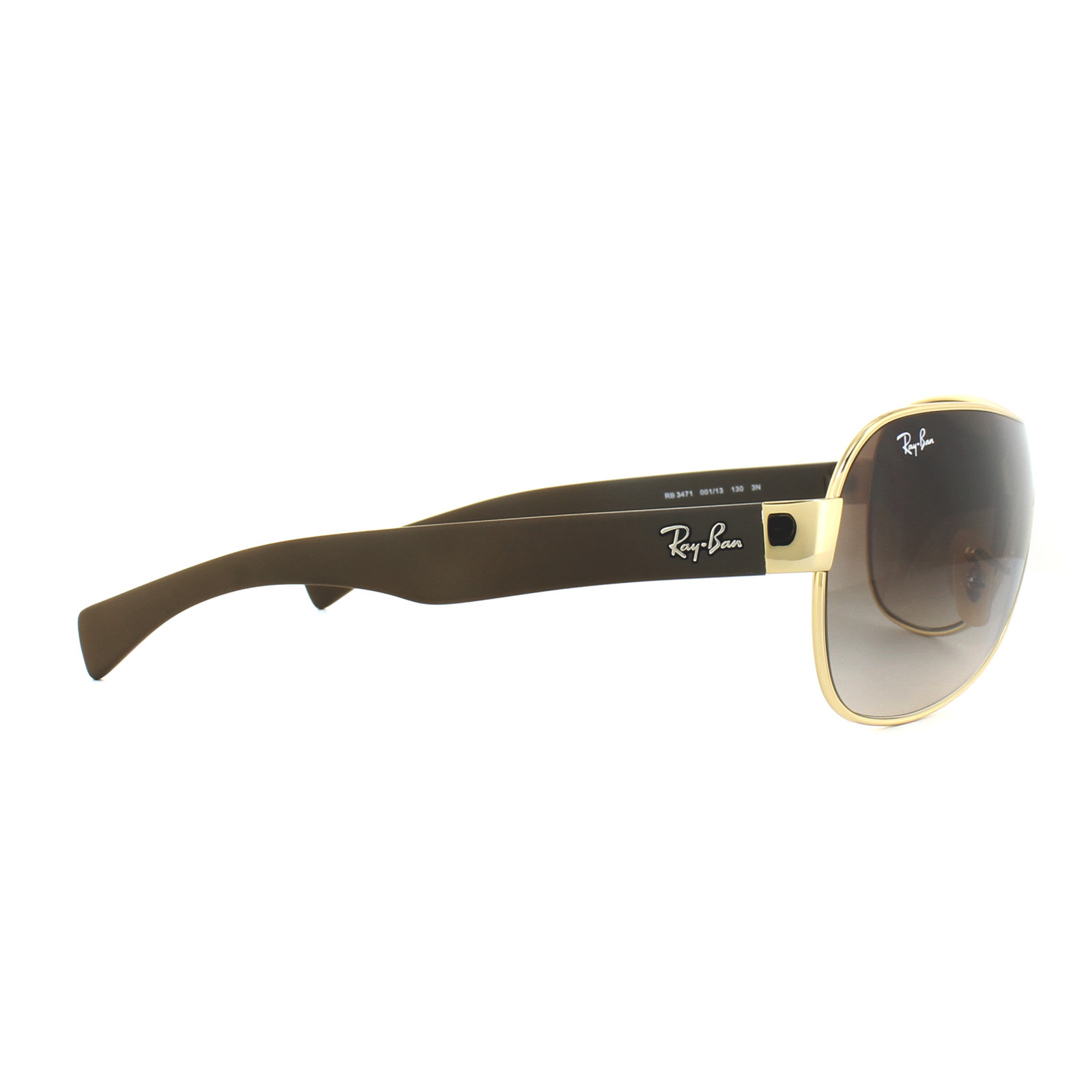 f25da973d5e ... ireland sentinel ray ban sunglasses 3471 001 13 gold brown gradient  d4a9a 1cfeb